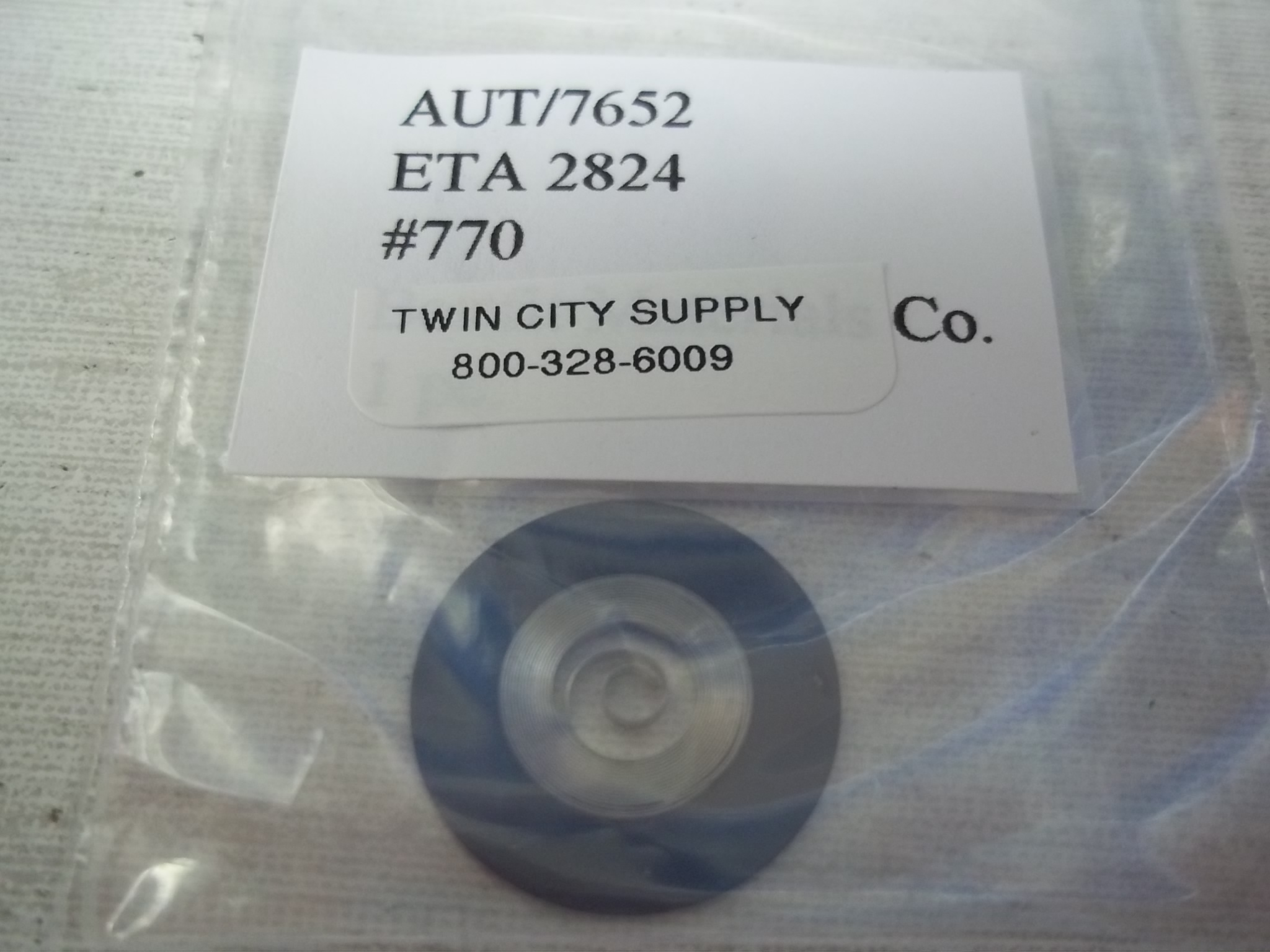 A7652  Replacement Swiss Mainspring for ETA 2824-2