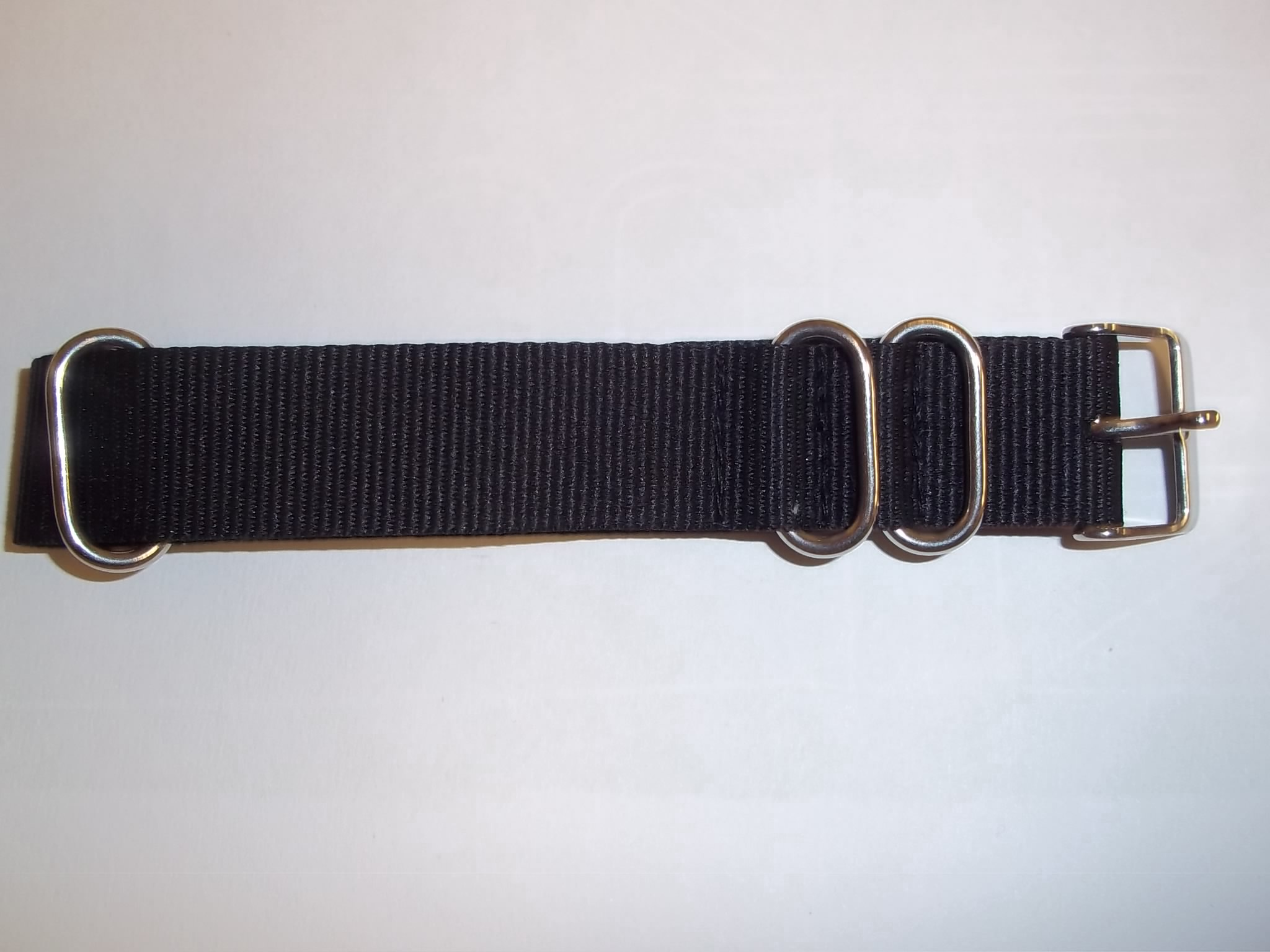 K3640BK New! Nato Military Mens's Black Nylon Watch Band 20mm