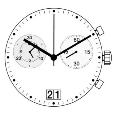 Har/Ron Harley/Ronda5020B Quartz Watch Movement
