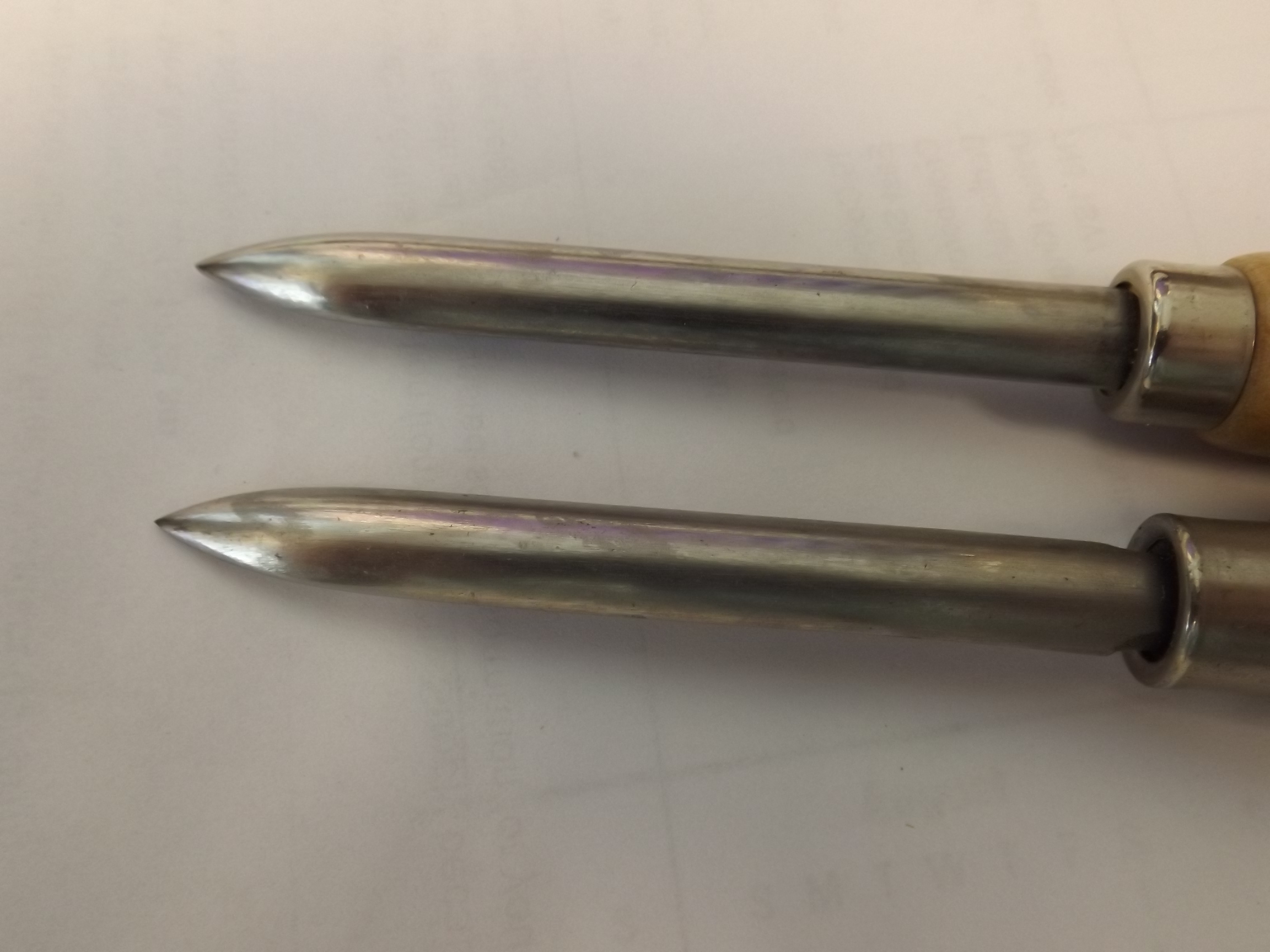 """BS113 Straight Burnisher, 3"""" Long Blade Grobet No. 18.064--overstocked Special!"""