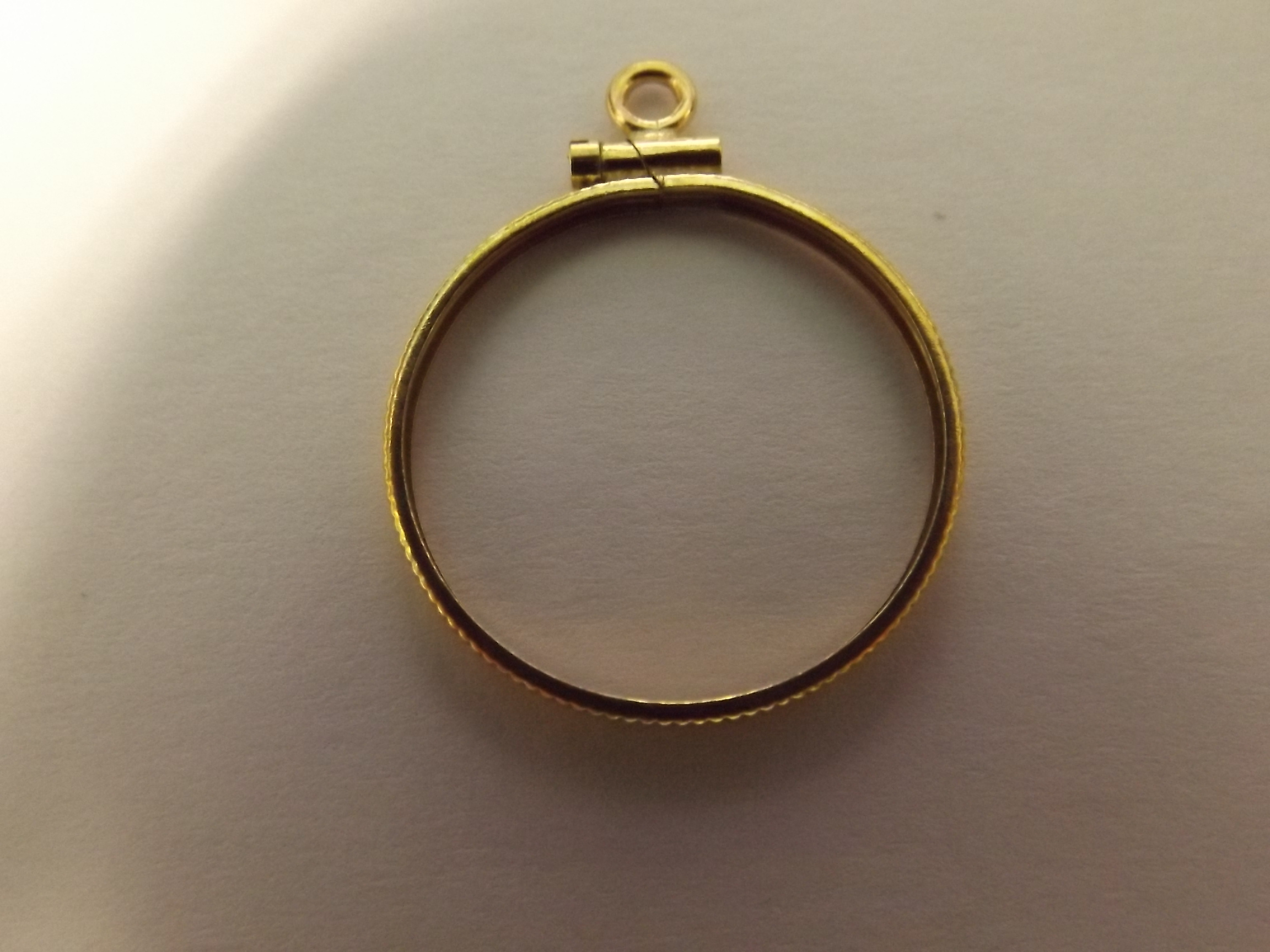 CR500IF American Coin Mounting--$5.00 Indian-Yellow Gold Filled- Closeout!