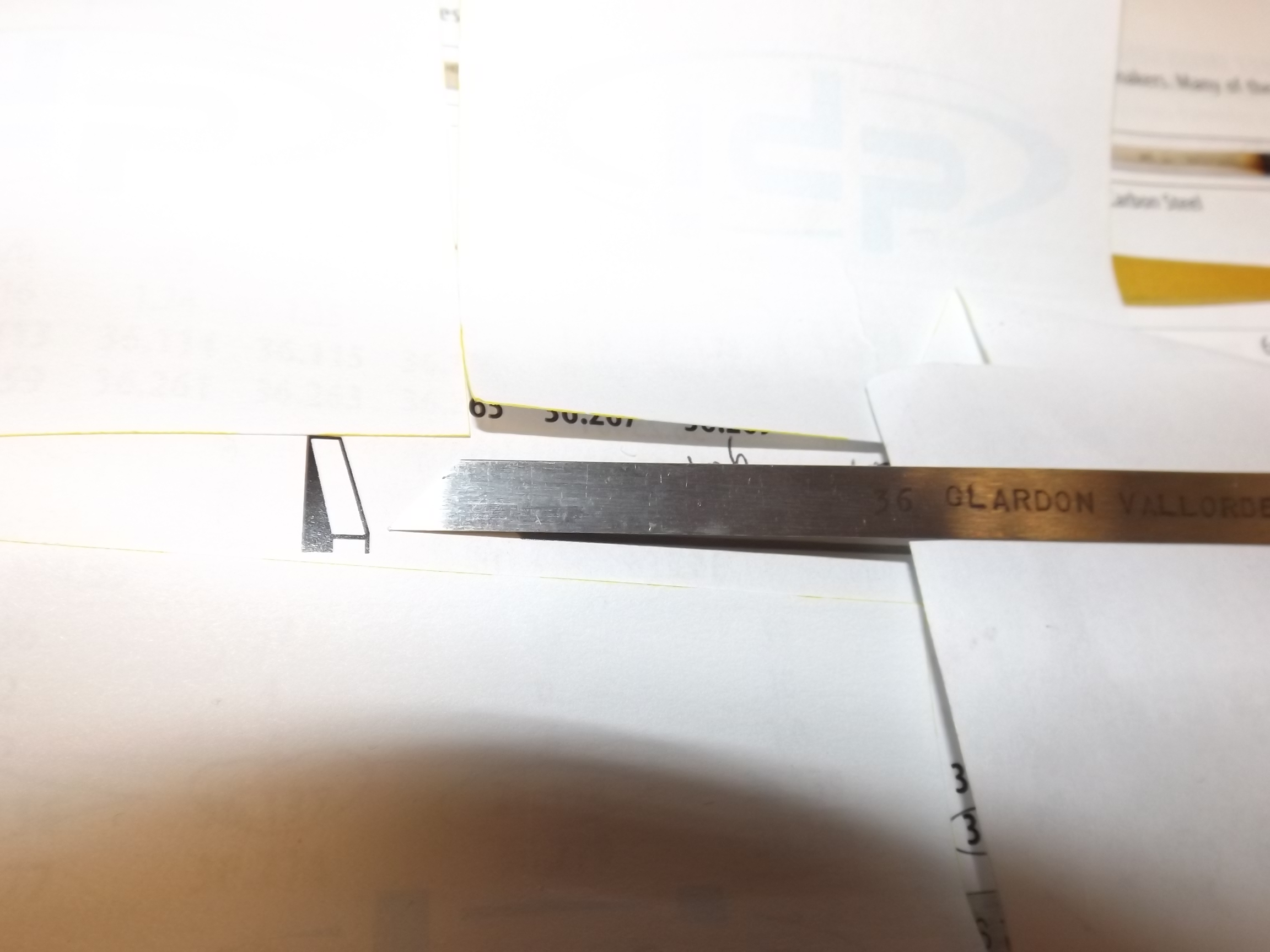 GR500/38 Carbon Steel Flat Graver--Grobet--36.138