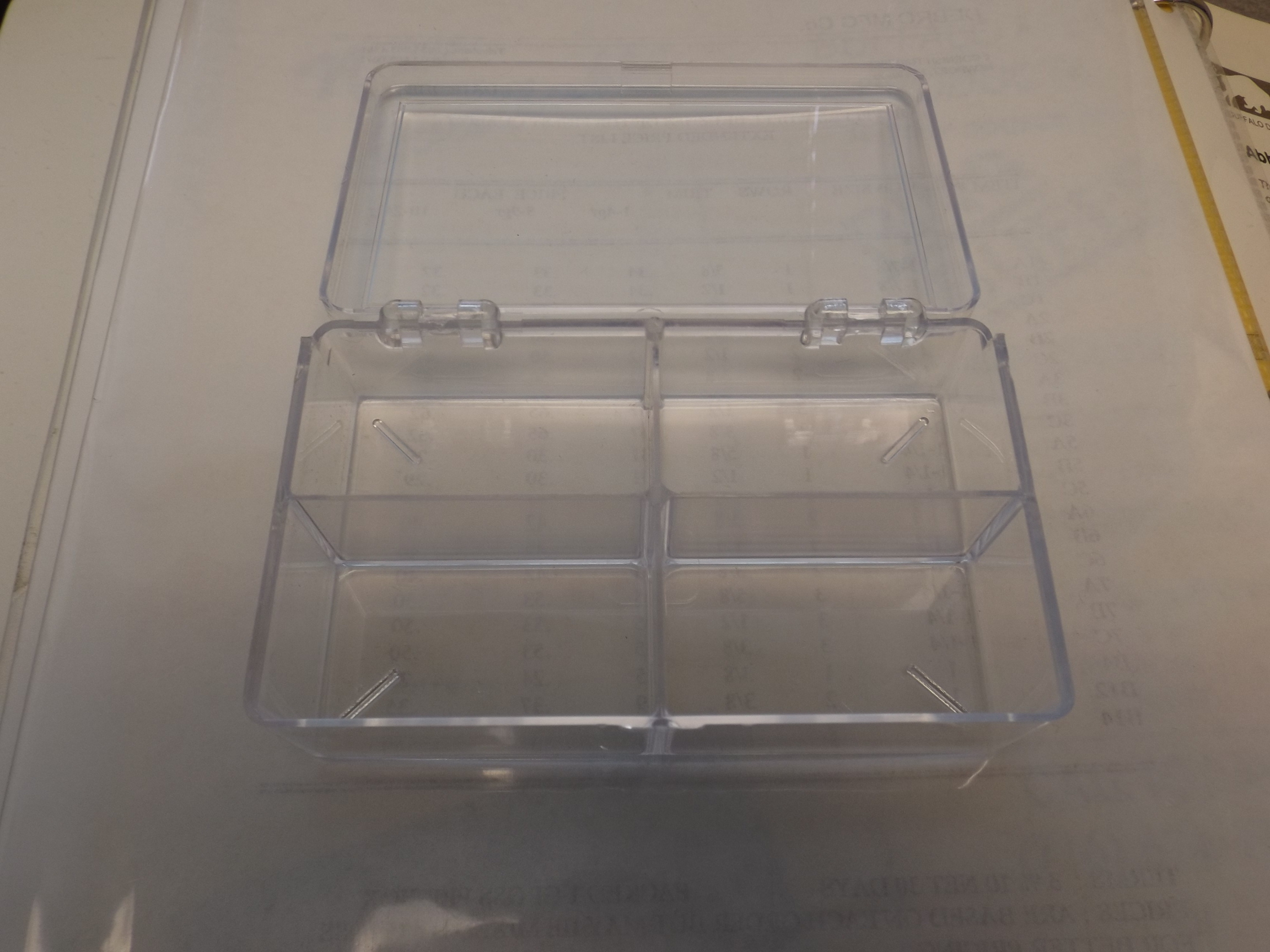 BX434 Plastic Storage Box with 4 Compartments