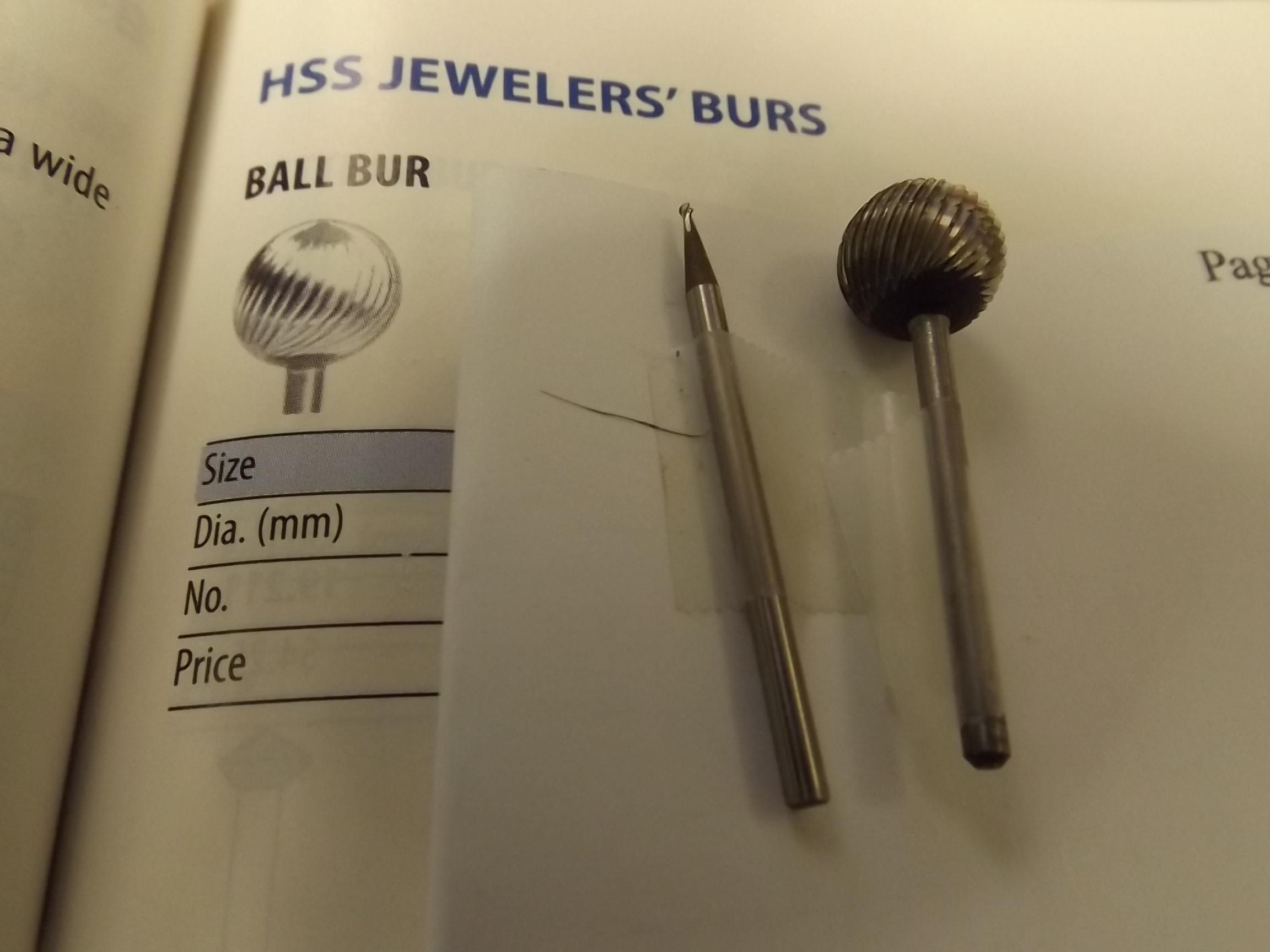 BR750/9 High Speed Steel Burs-Ball Grobet #19.349
