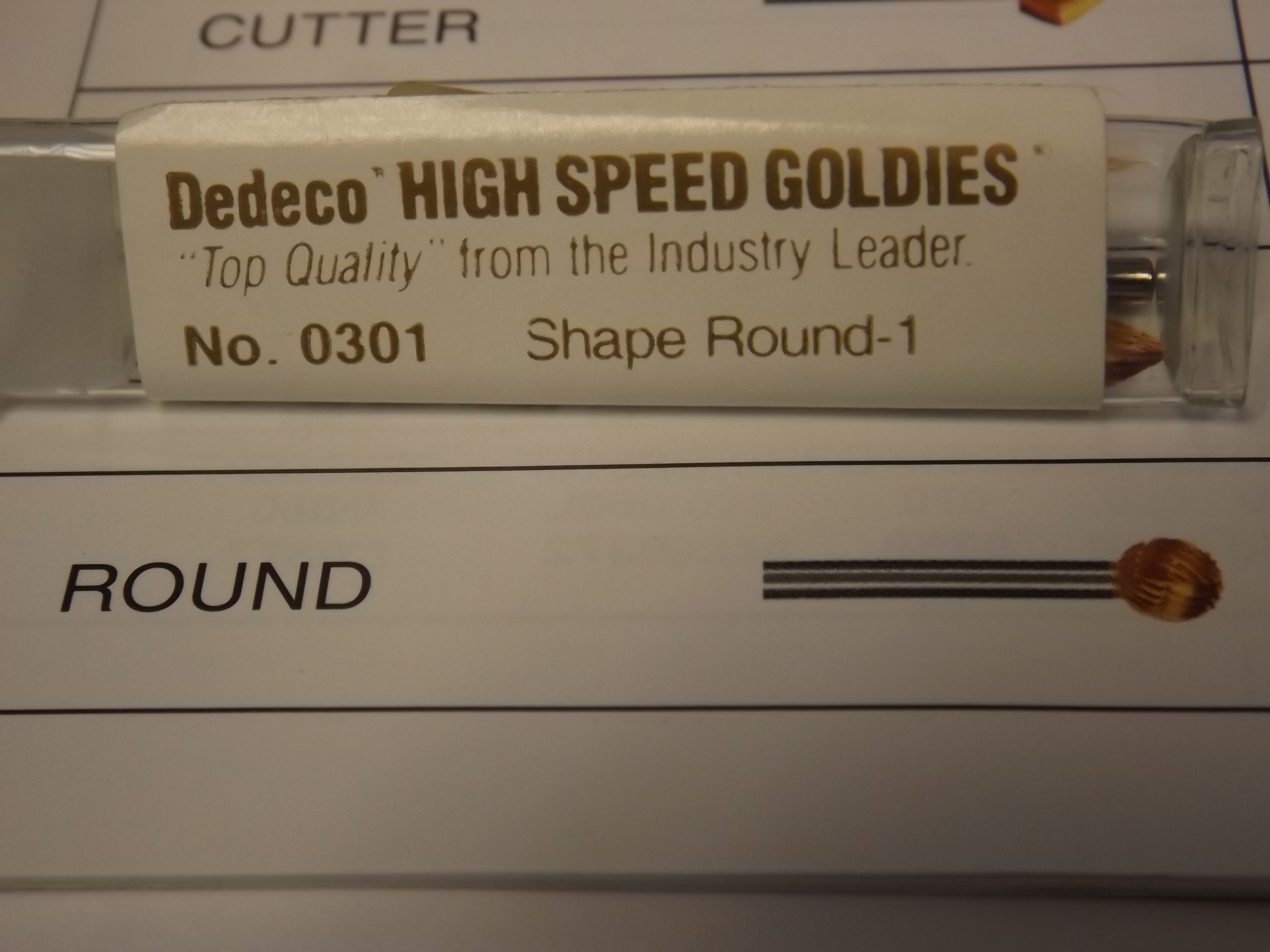 BR1750/17 Dedeco Goldies High Speed Steel Burs- Round, 3/32nd Shank