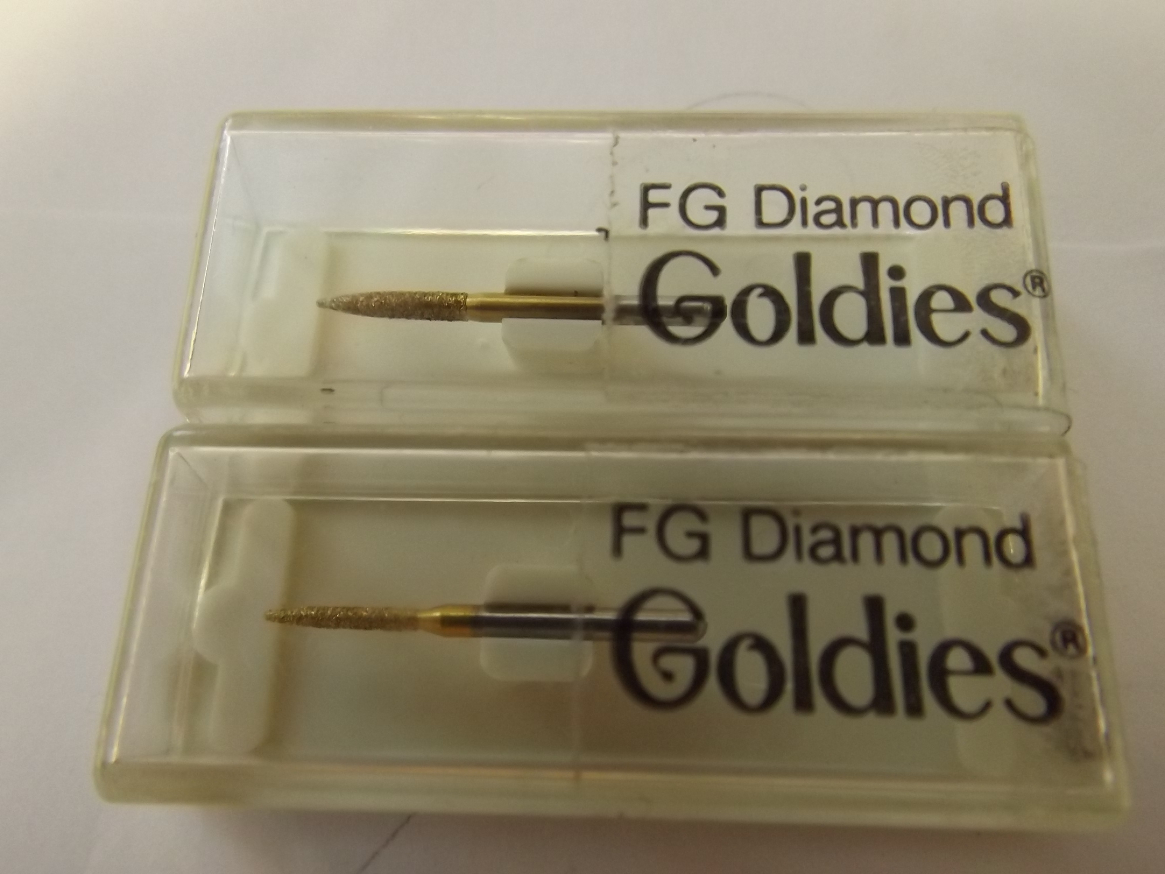 BR2057 Dedeco Diamond Goldies--Cylinder-Pointed End- FG Shank- ONE Only! Jewelry/Dental