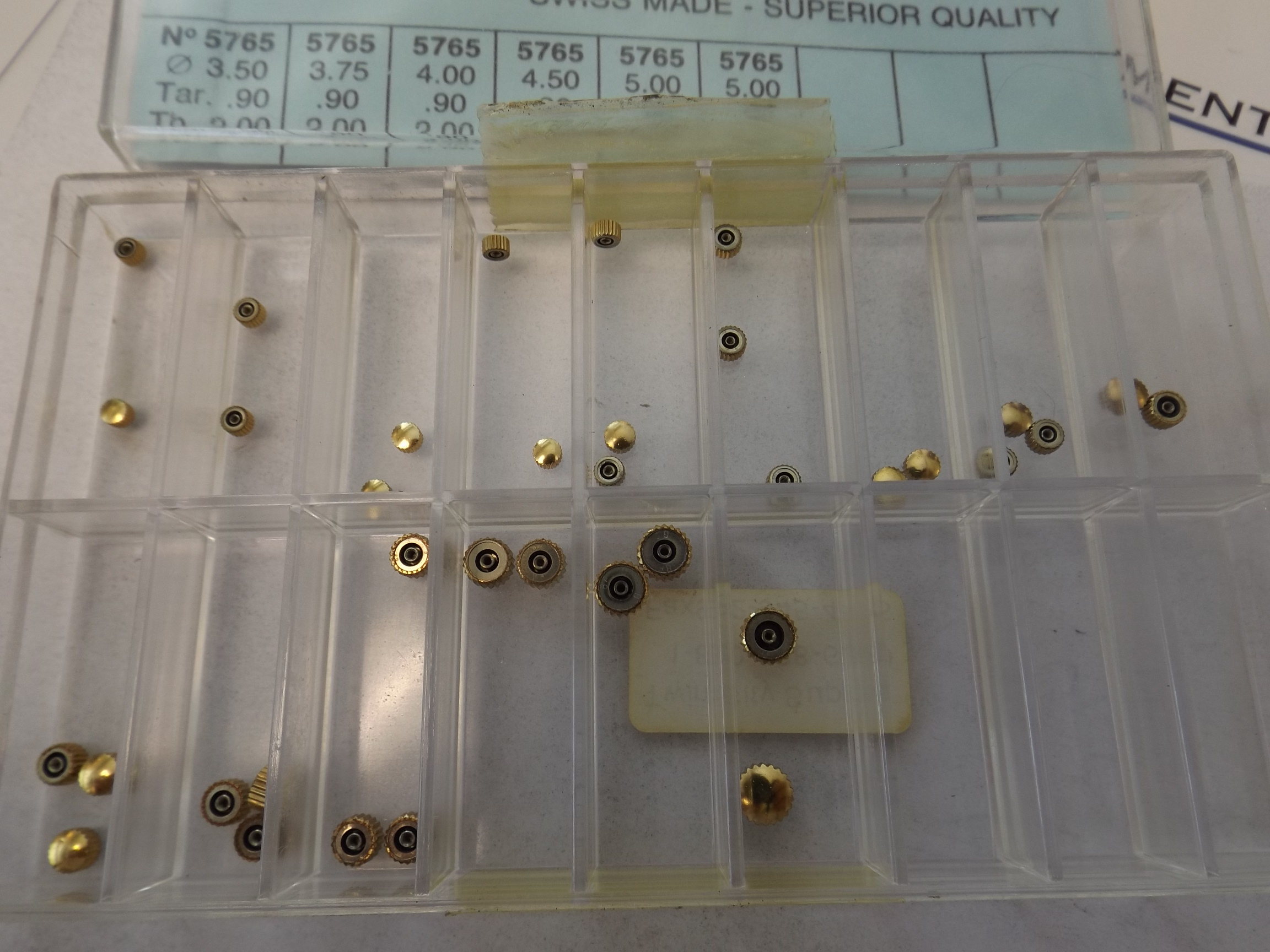 5700 A*F Assortment of O-Ring, Waterproof Quartz Watch Crowns--36 pieces, Yellow- 1 Only