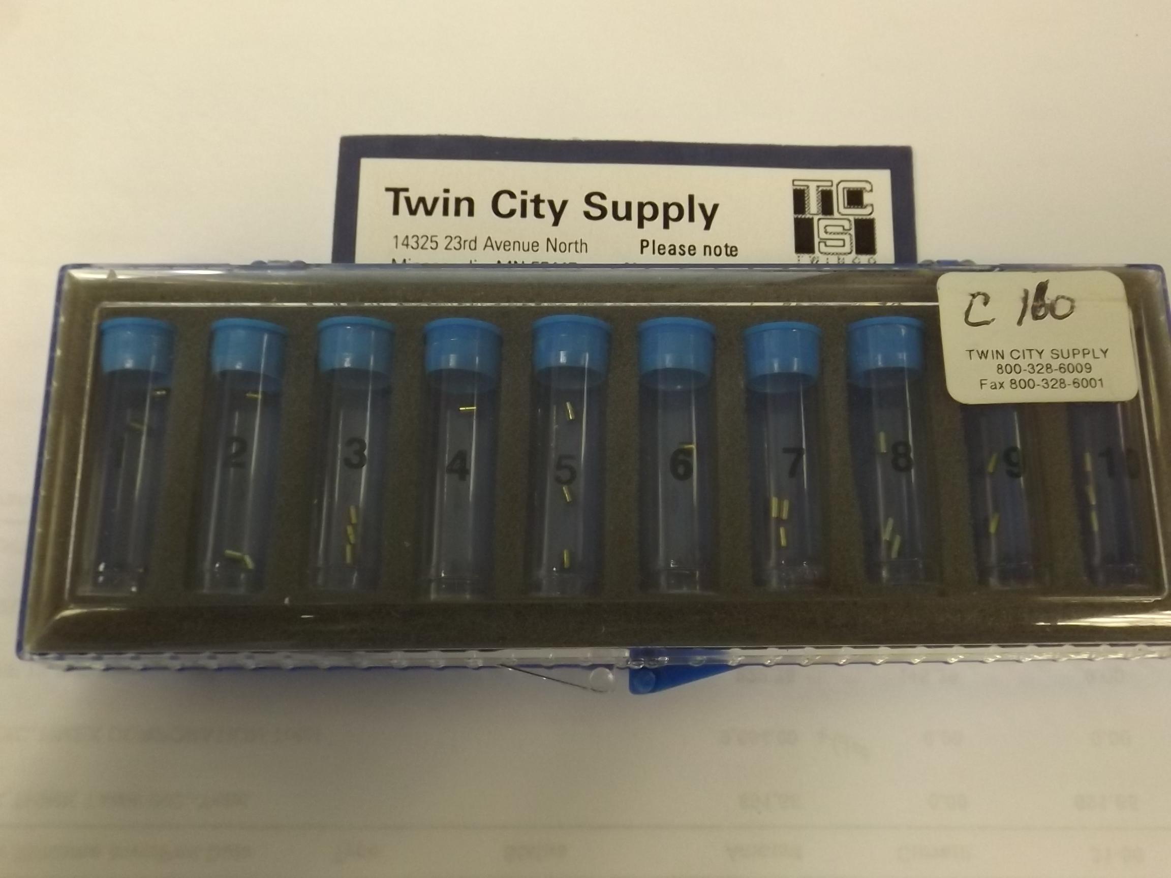 C160 Waterproof Case Tube Assortment- 30 Piece-Newall