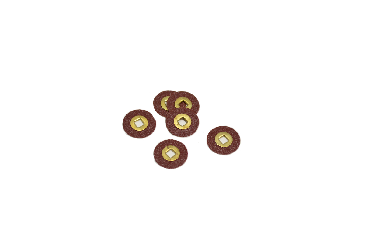 "ST1082 Adalox Sanding Discs, 1/2"" Diameter, Medium Grit, Aluminum Oxide, Brass Center-Grobet #10.01082"