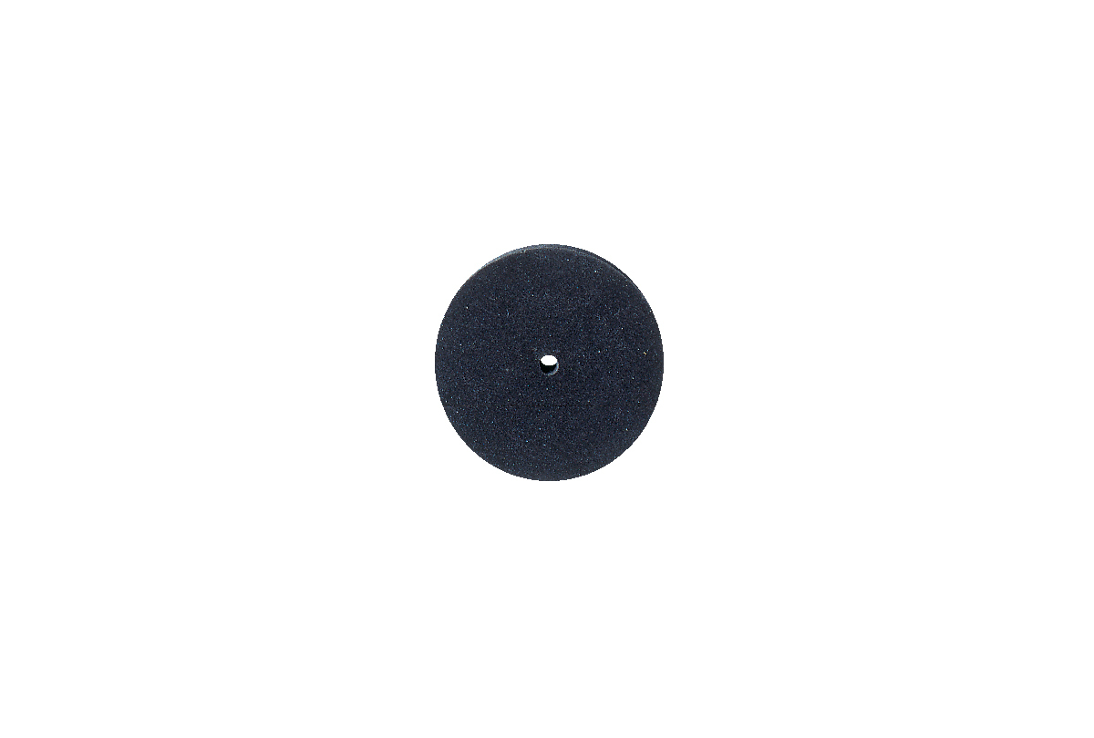 "ST1375 Silicone Square Edge Wheel, 7/8"" x 1/8"", Black, 220 Grit- Grobet # 10.01375"