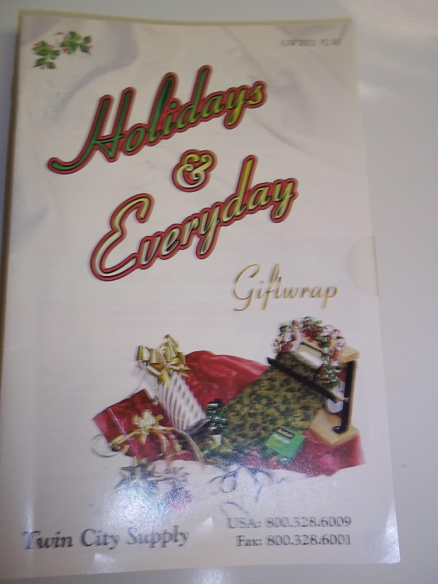 BKGW2002 GiftWrap Booklet