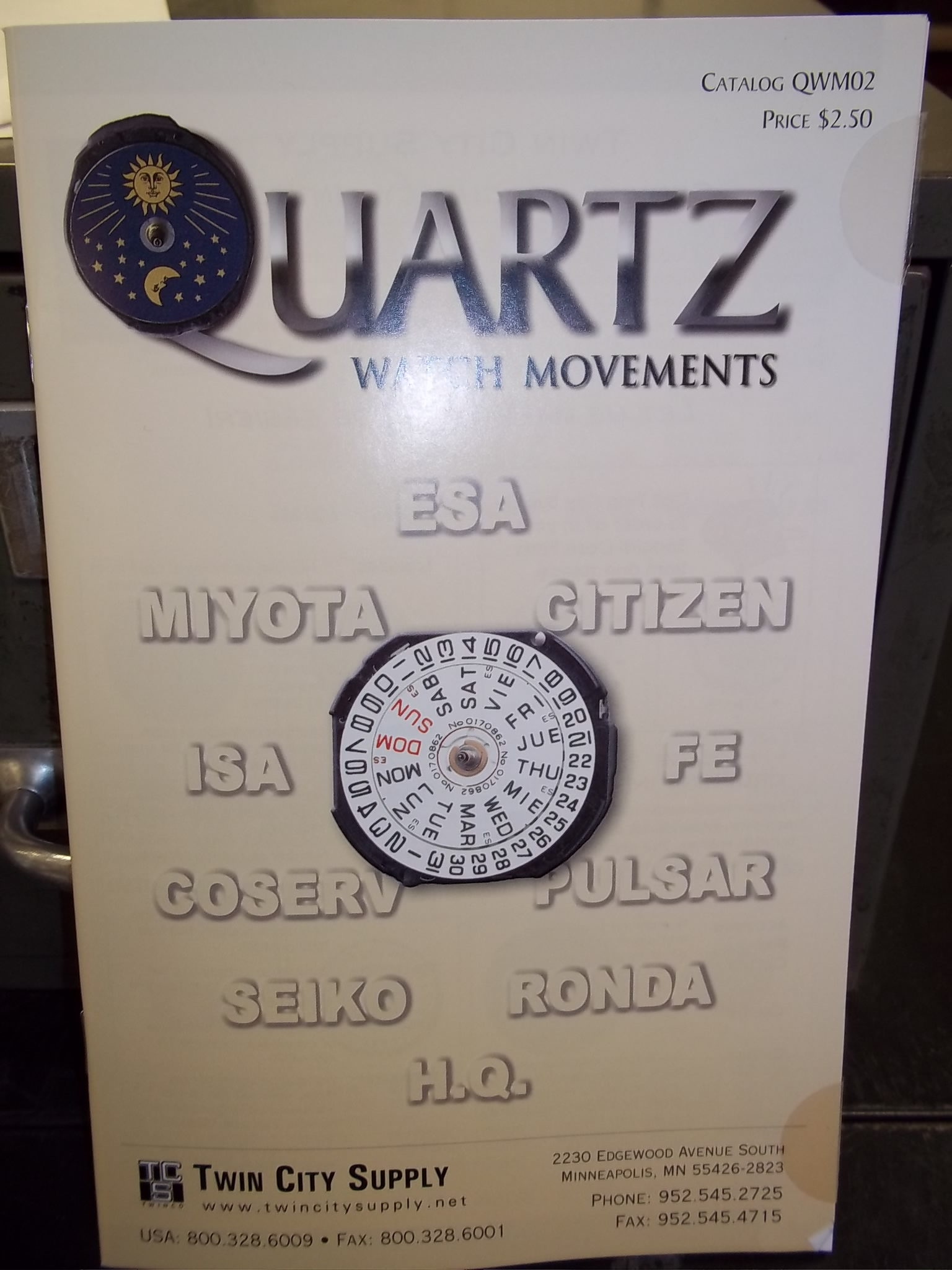 BK QWM202 Twin City Supply Quartz Watch Movement Catalog