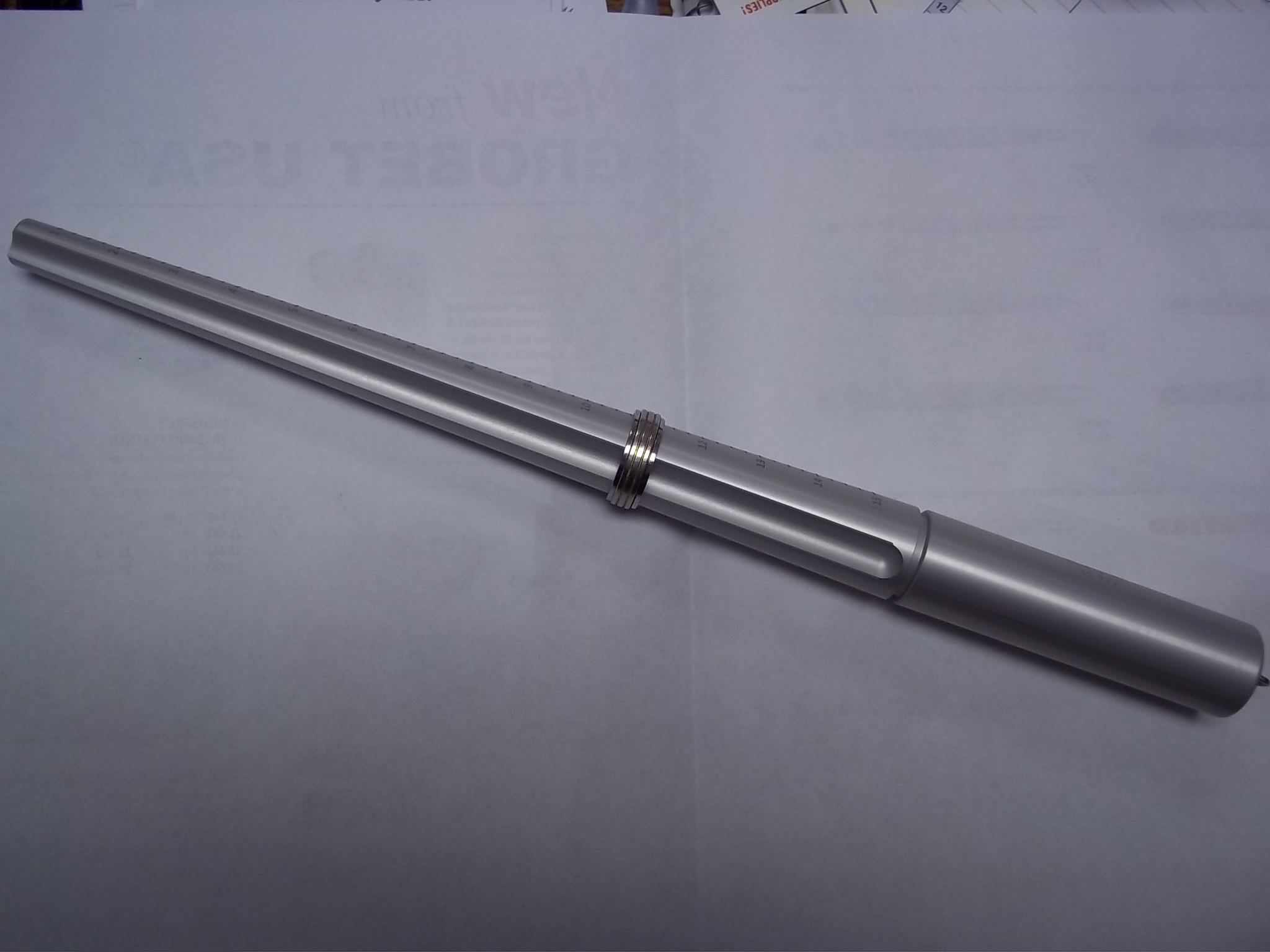 GA272 Aluminum Ring Stick with Groove sizes 1-15 Grobet # 35.272