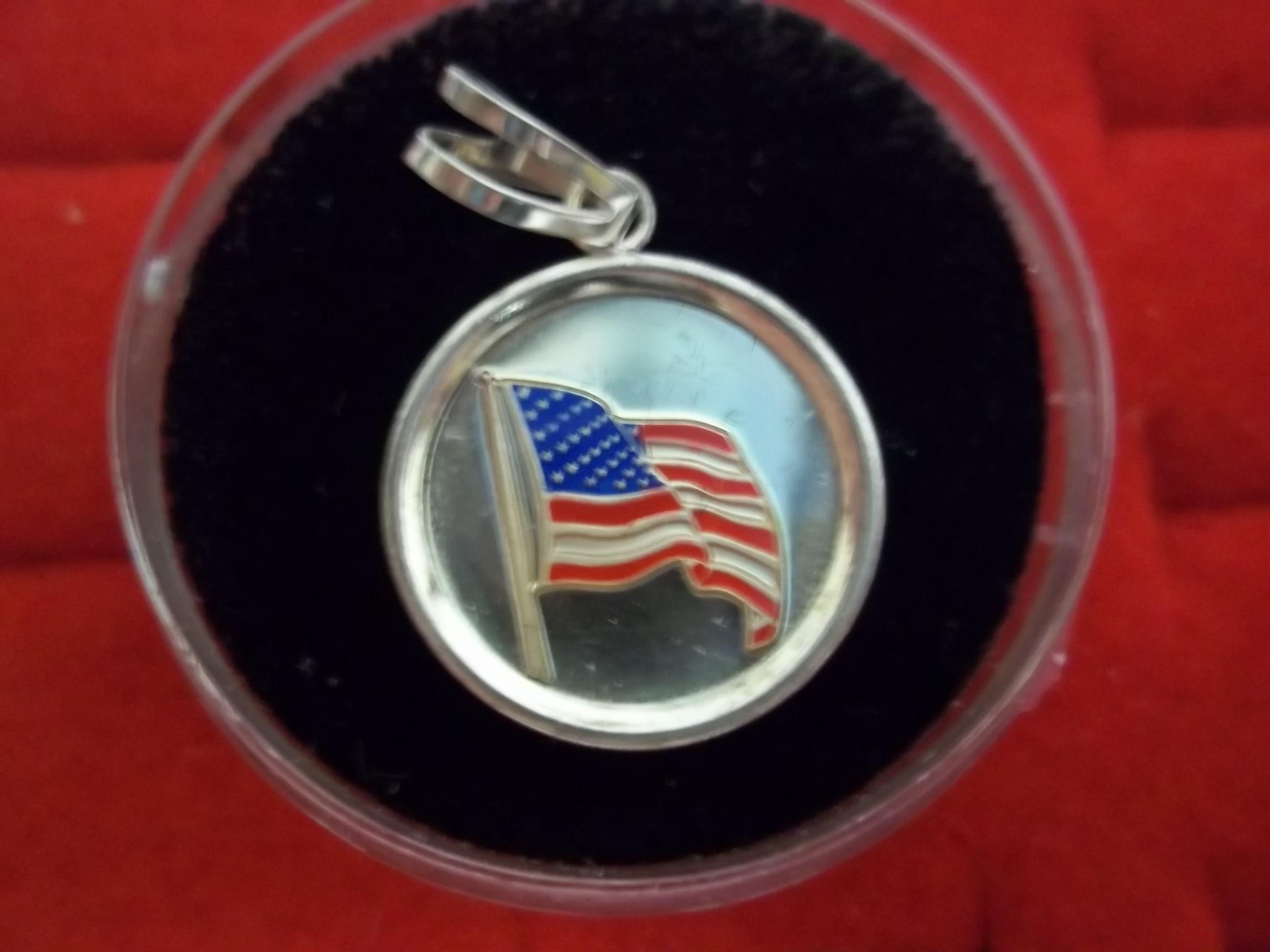 """FF01S Fuller Sterling Flag """"Coin Type"""" Medallion & Bale"""