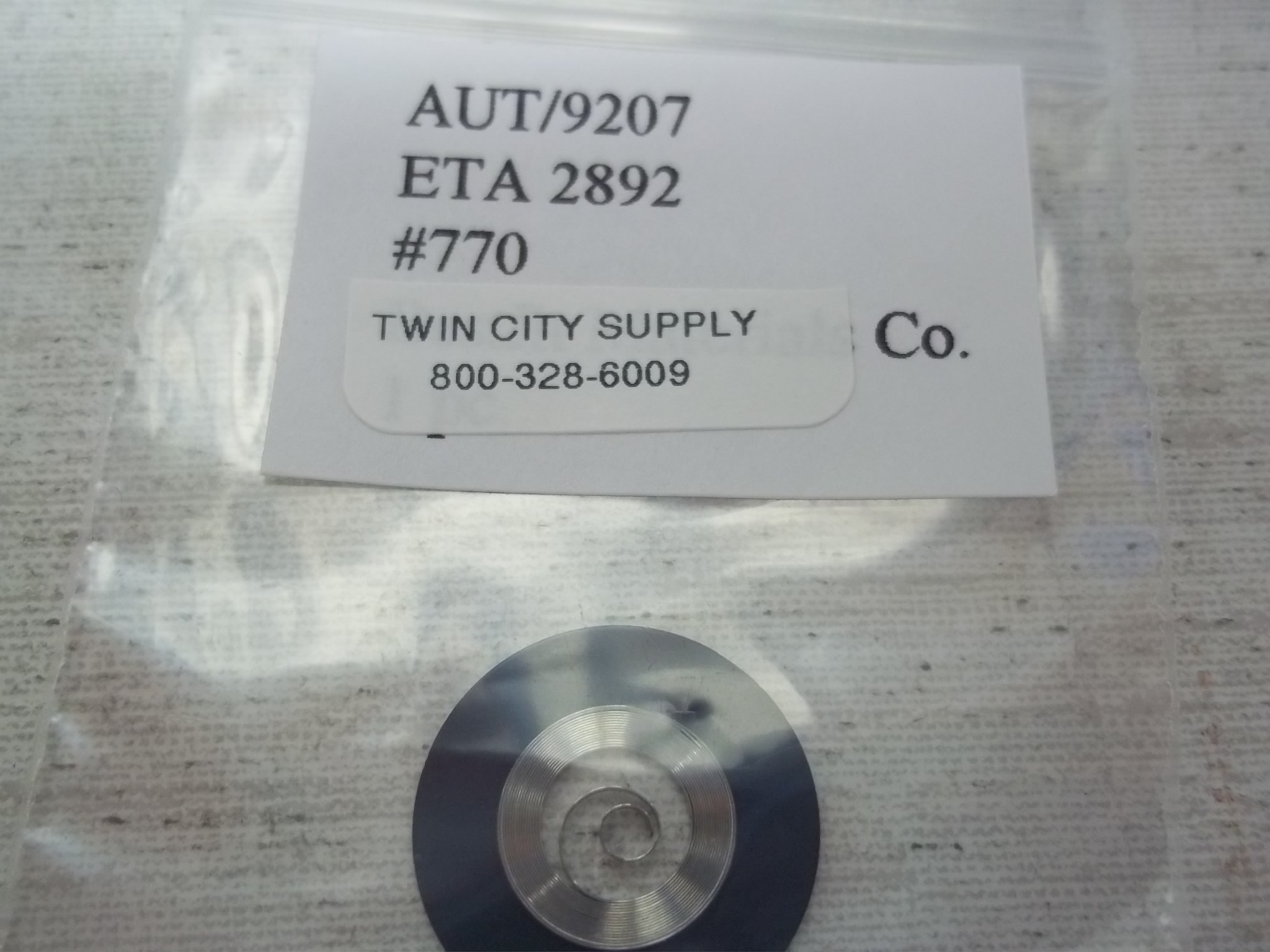 A9207 Replacement Swiss Mainspring for ETA 2892-2