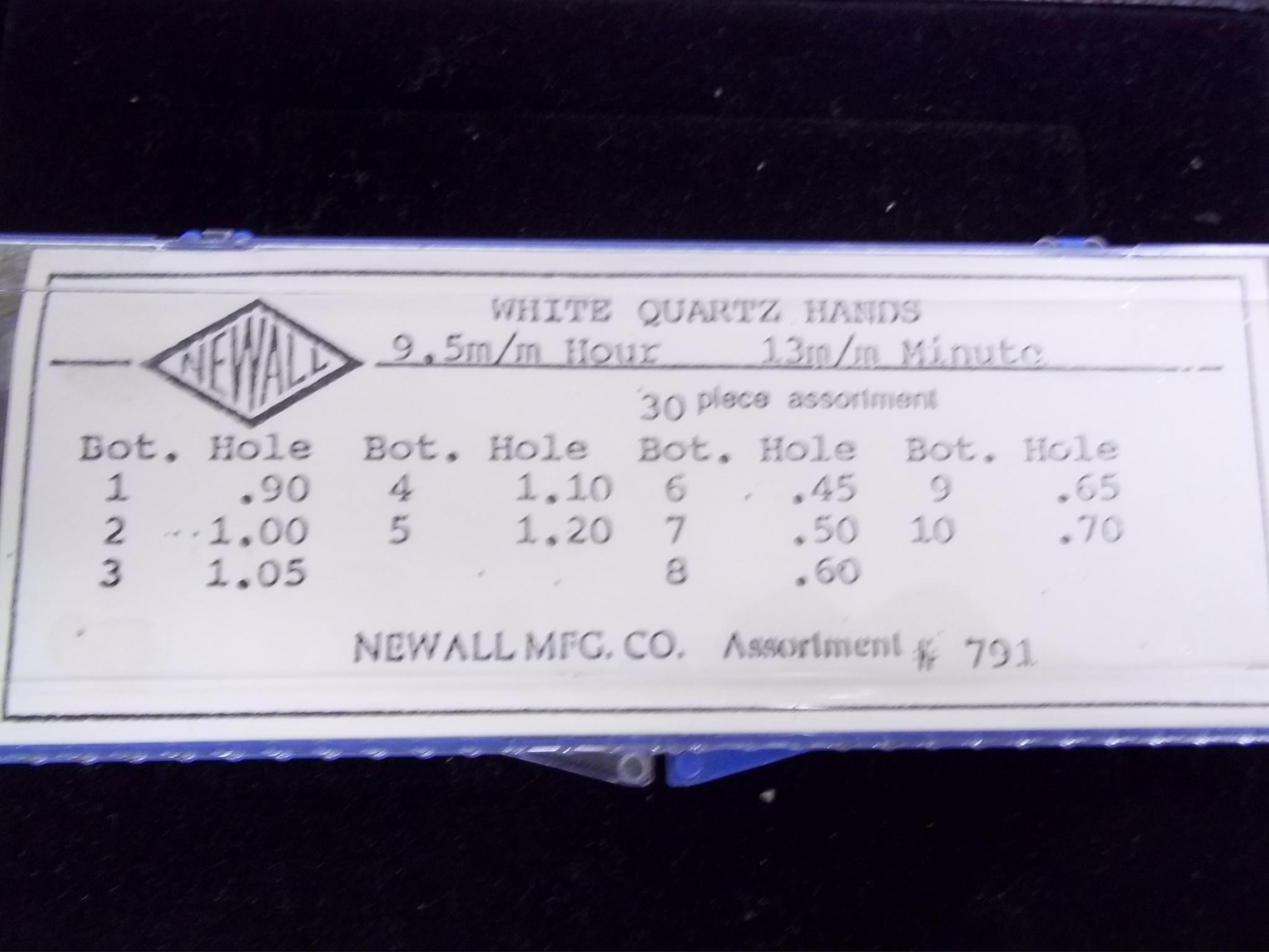 Asst-791 Assortment of White Quartz Hands--30 pc Newall
