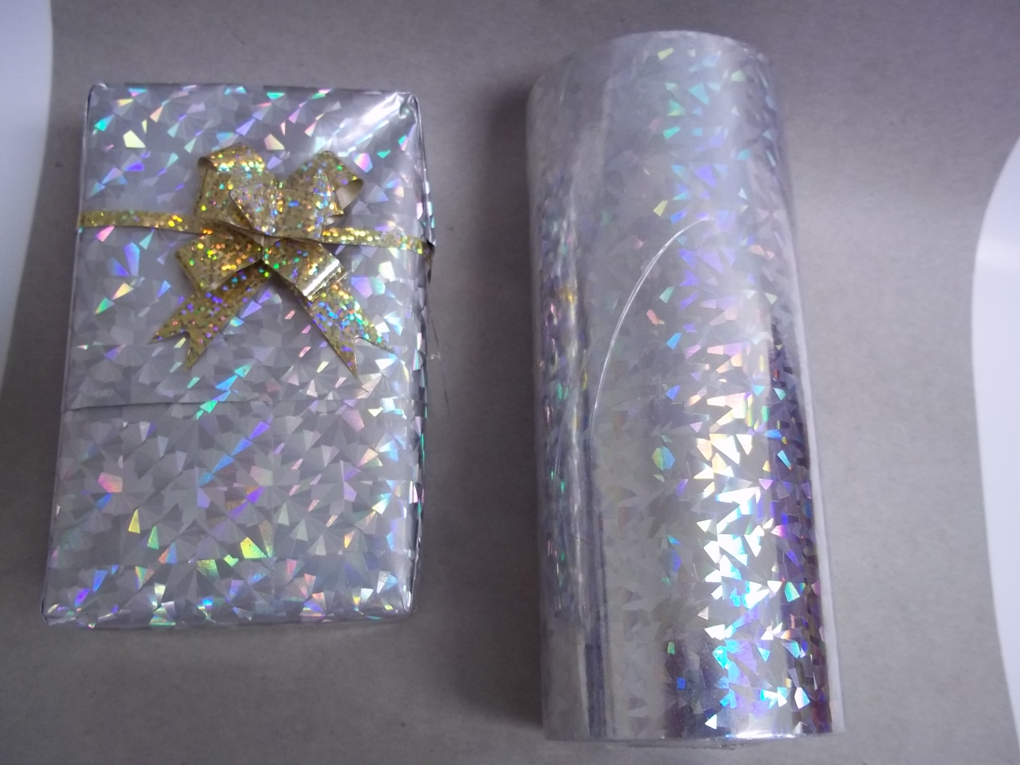 """PA095 Holographic Foil """"Cracked Ice"""" Jewelers Roll"""