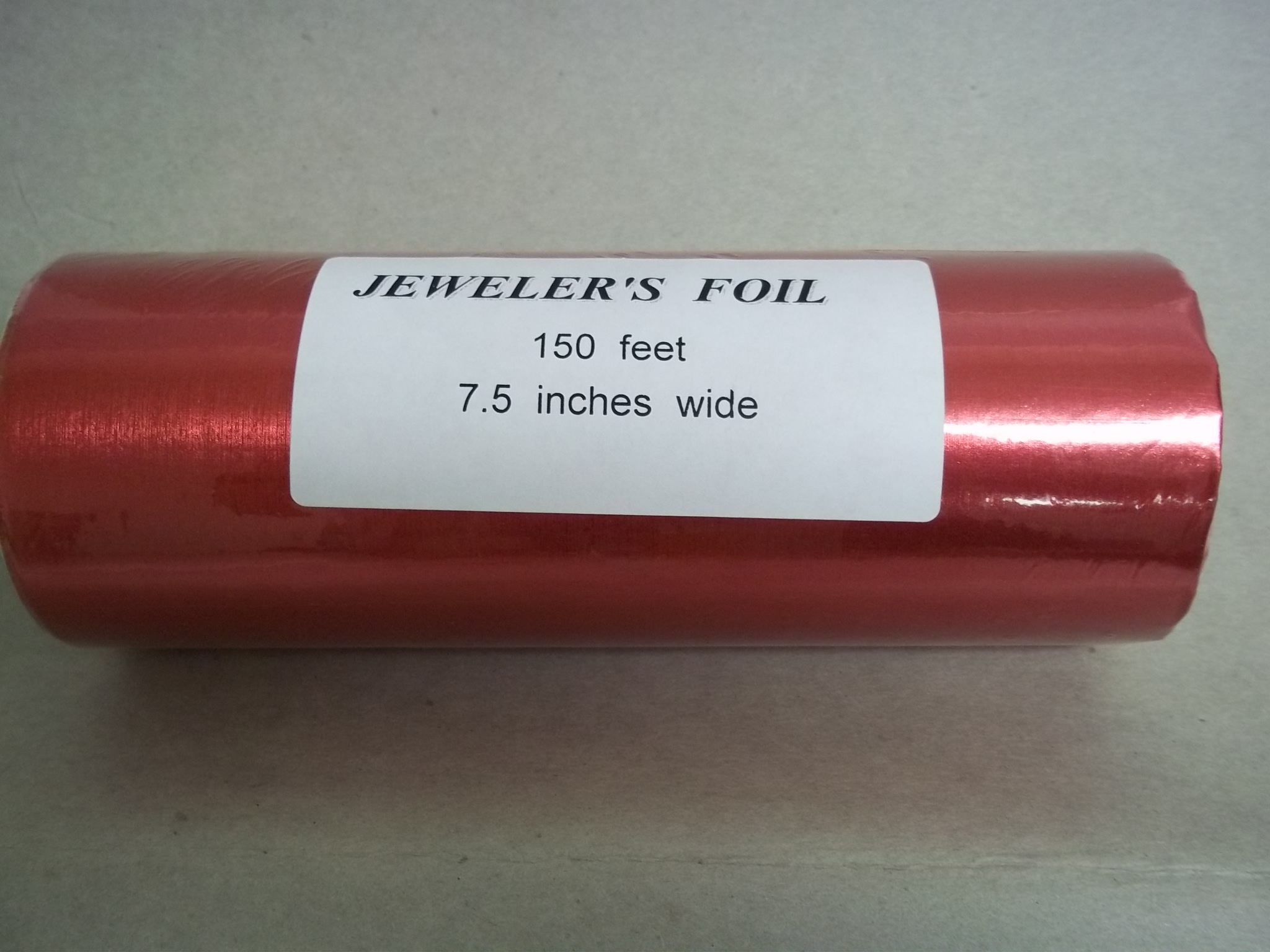 PA903 RED Satin Jewelers Roll of Foil Wrapping Paper--