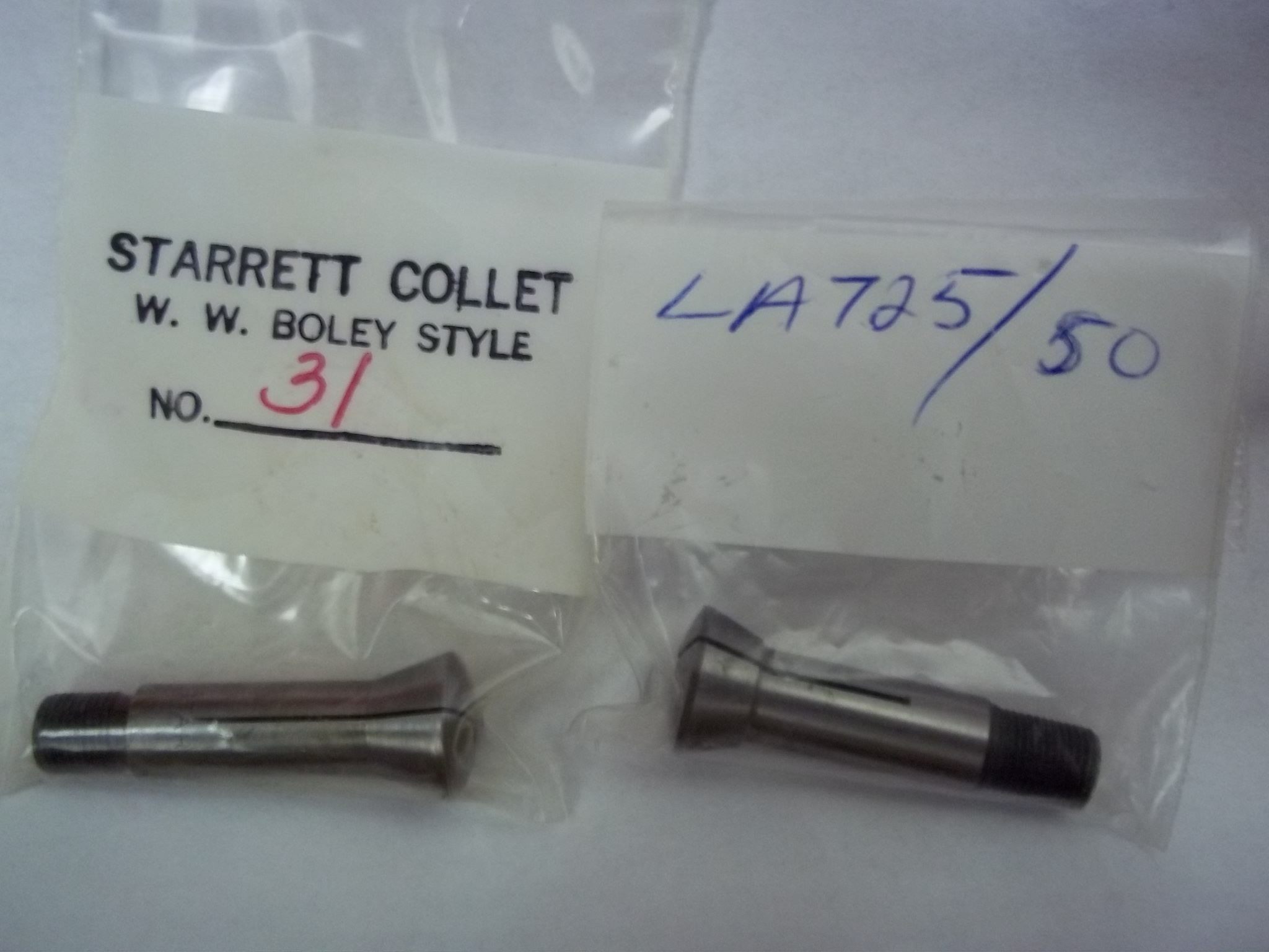 "LA725/16 ""WW"" Boley Style Lathe Collets-- STARRETT-Closeout"
