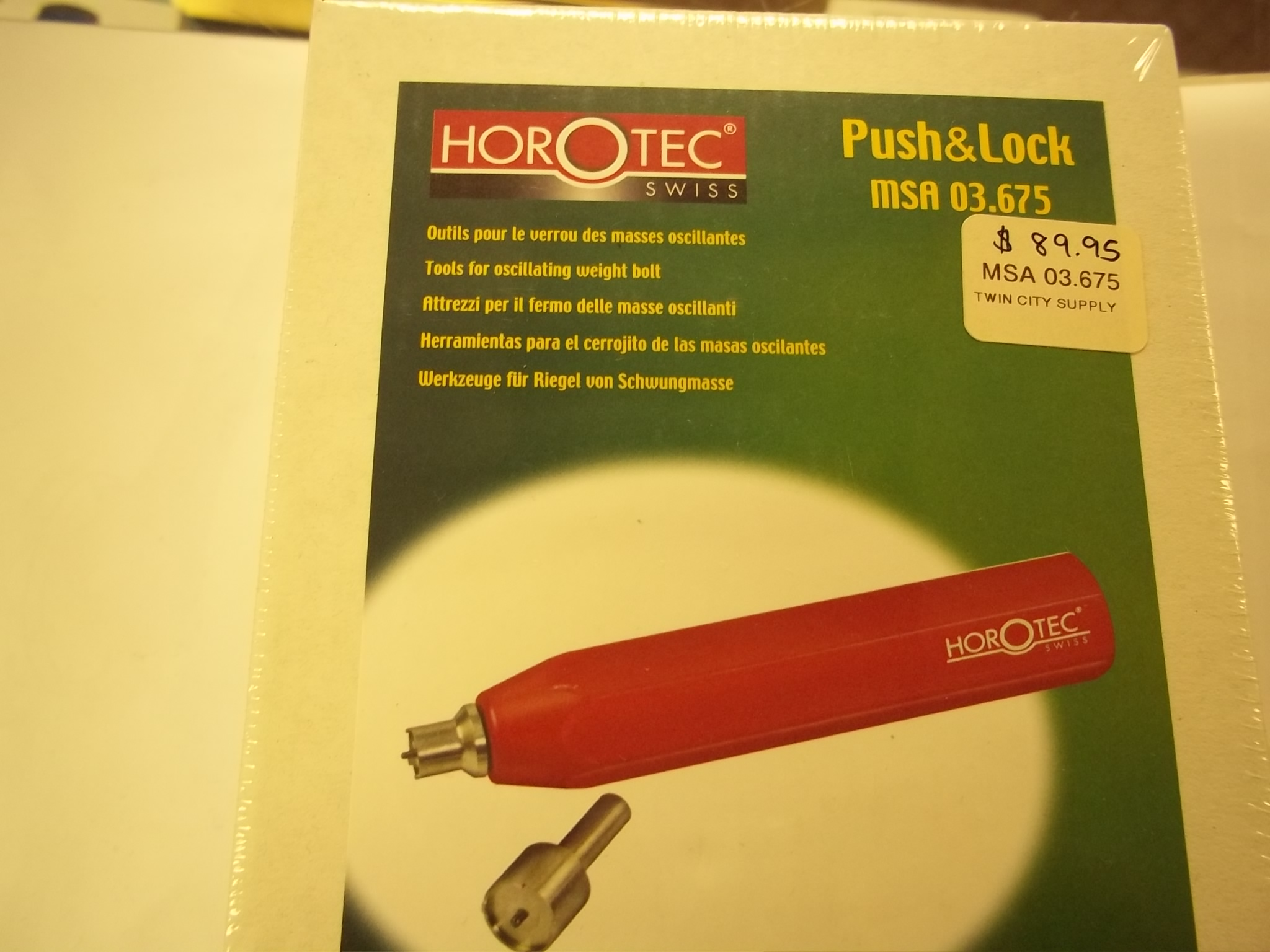 MSA03.675 Horotec Push & Lock Tool--for Oscillating Weight Bolt