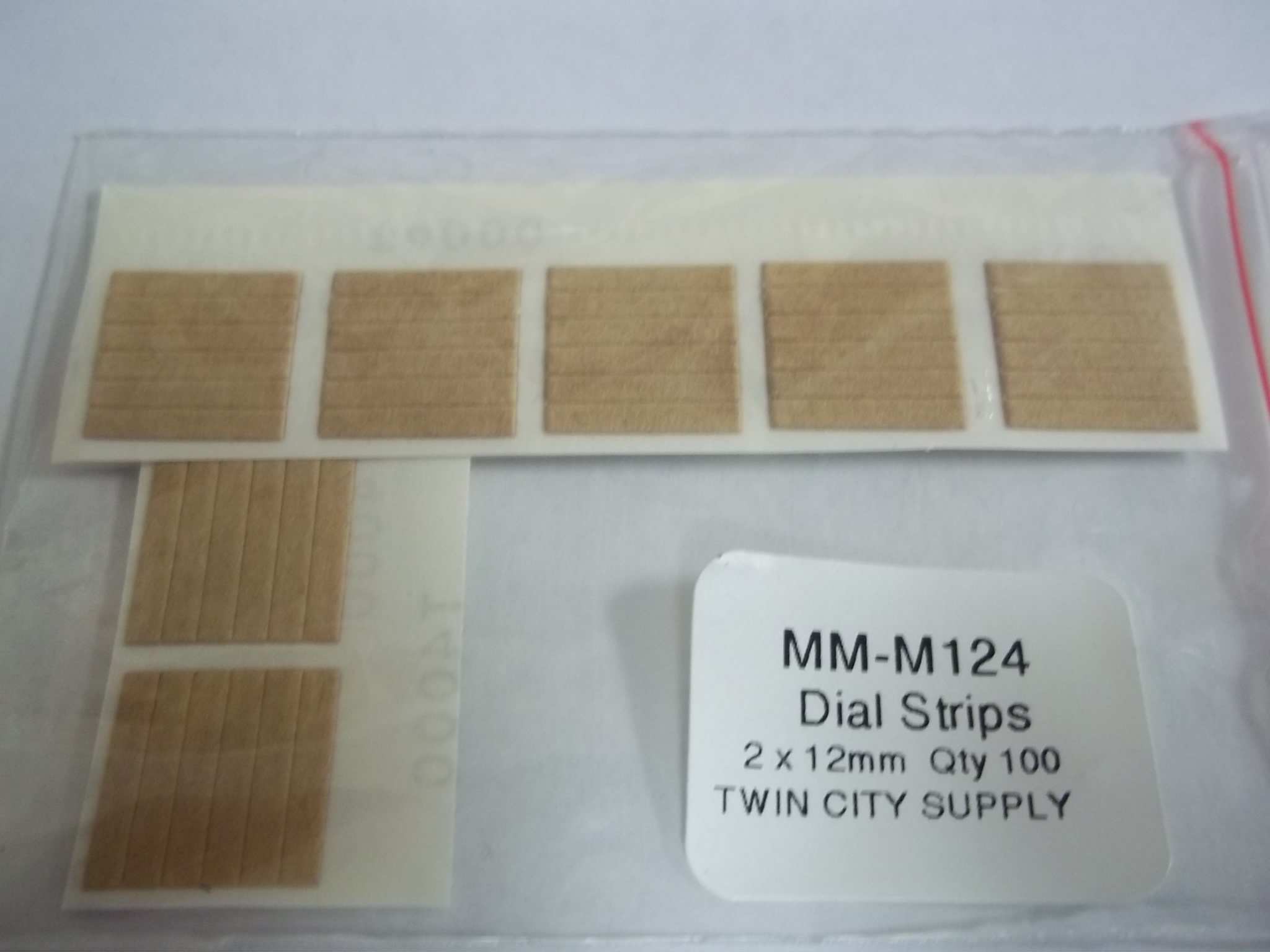 MM-M124 Dial Strips Pkg of 100, 2mm x 12mm- Newall