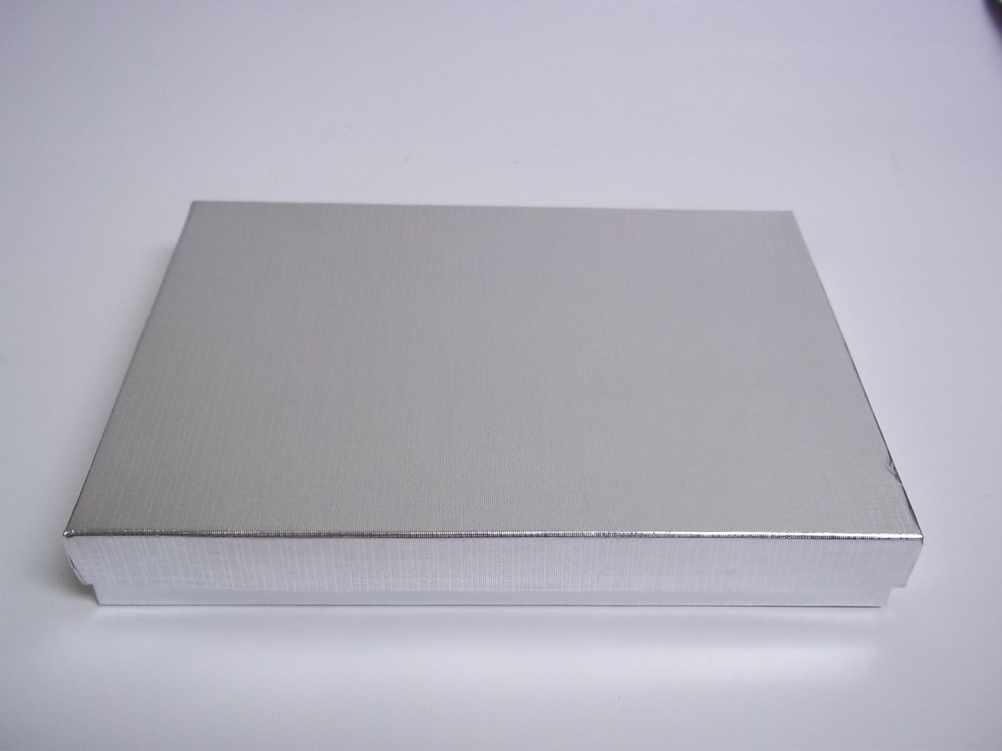BX414 Cotton Filled Silver Linen Large Pendant Nest Boxes