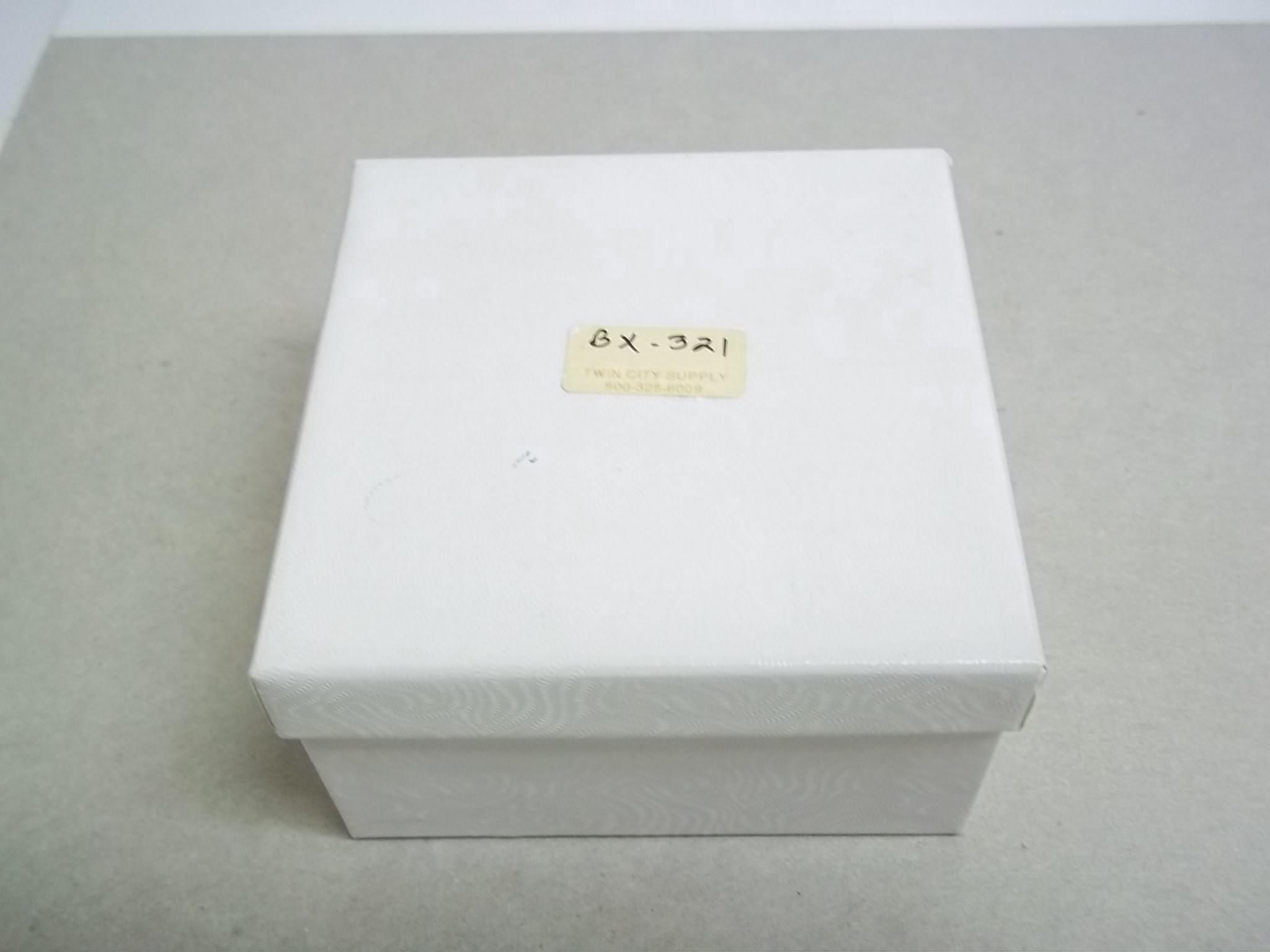 BX321 Cotton Filled White Swirl Bangle Bracelet Nest Boxes