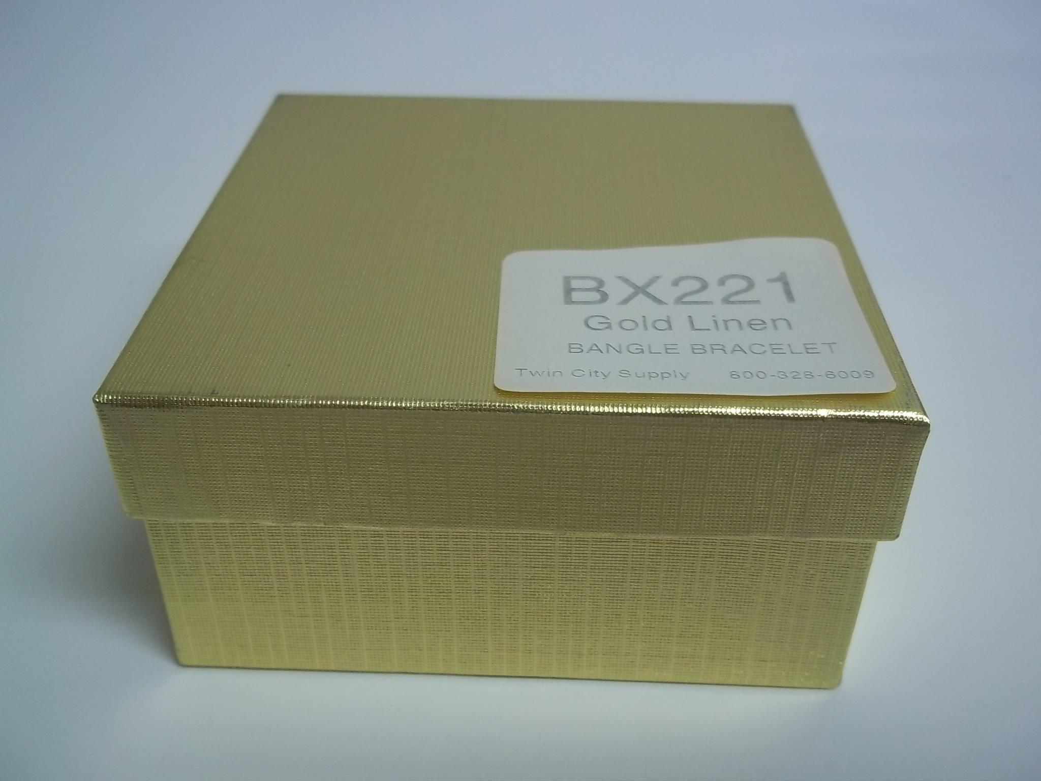 BX221 Cotton Filled Gold Linen Bangle Bracelet Nest Boxes