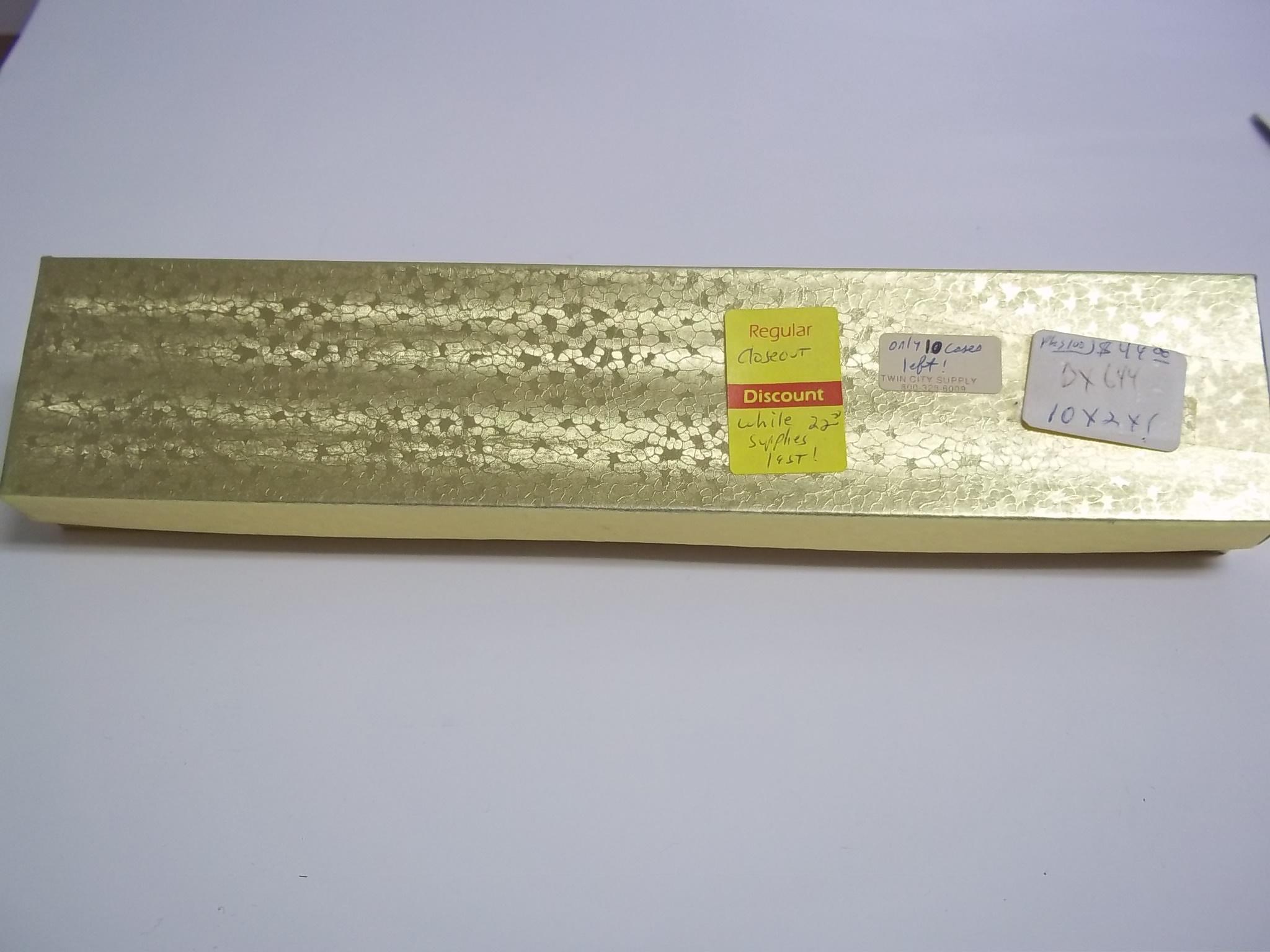 BX644 Cotton Filled Gold Foil Bracelet (Watch) Nest Boxes-Extra Long