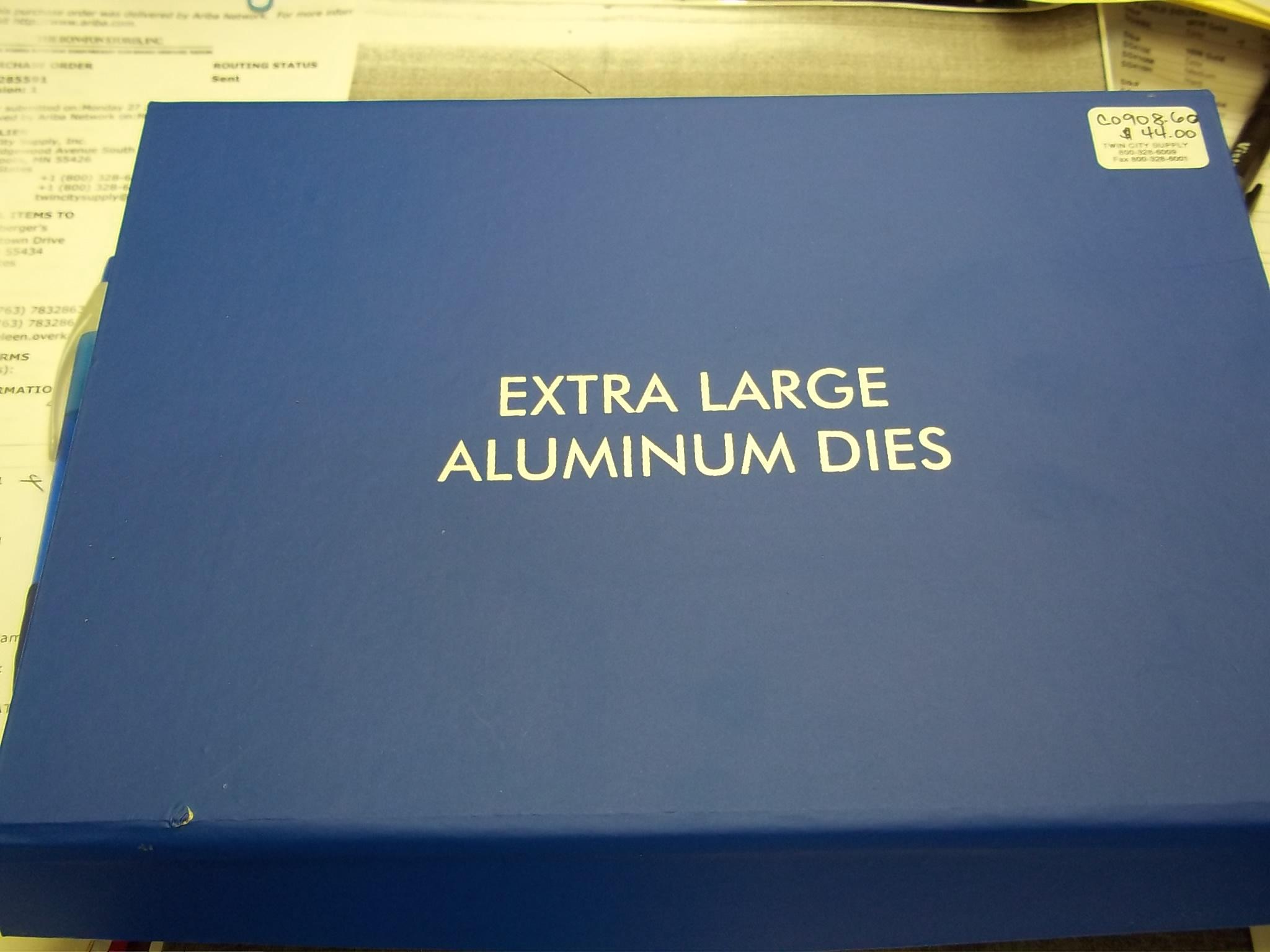 CO908.60 NEW! Set of 6 Extra Large Aluminum Dies