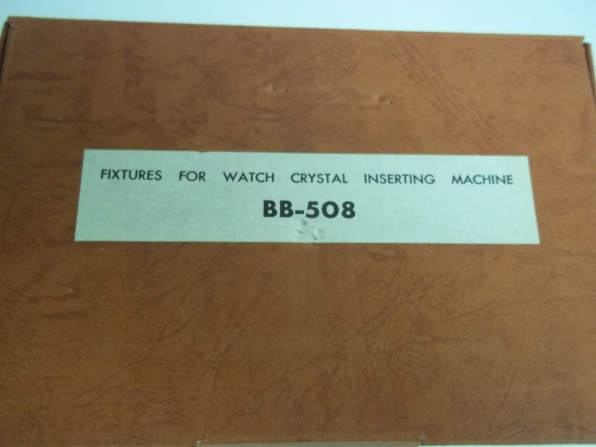 T3/BB508 Fixtures for BB Press Watch Crystal Insering Machine--used
