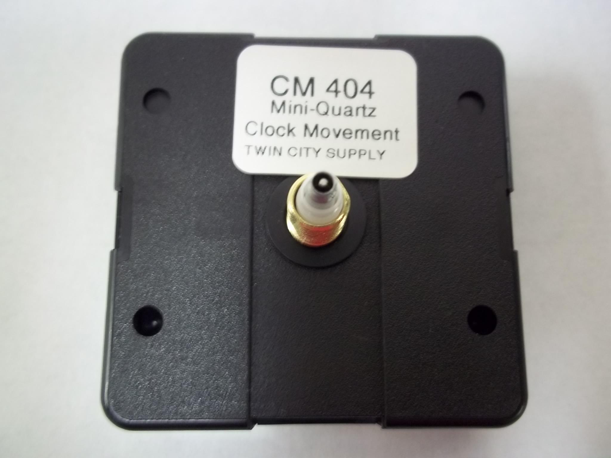"""CM404 Mini Quartz Clock Movements  5/8"""" Total Hand Shaft Length"""