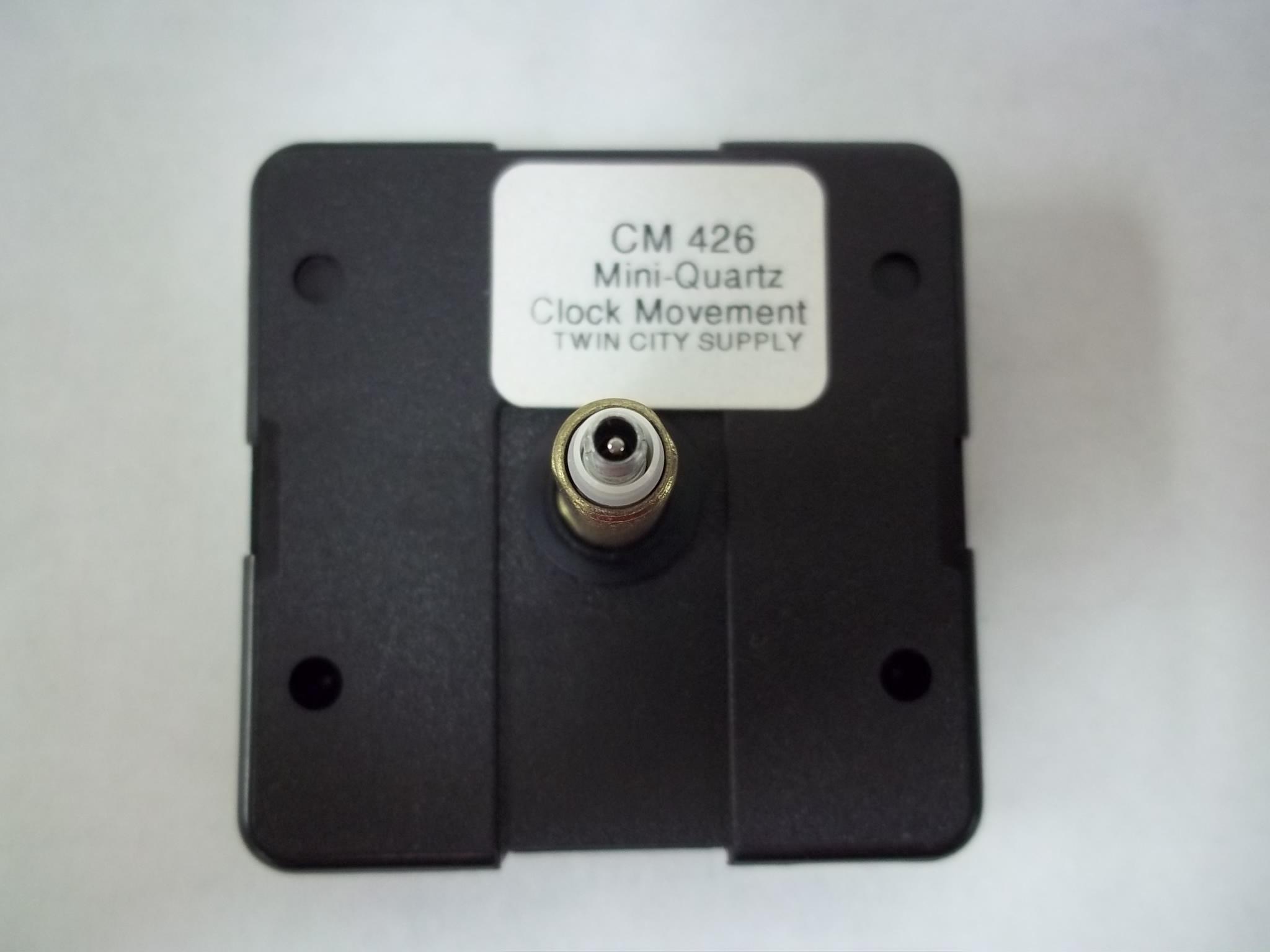"""CM426 Mini Quartz Clock Movements  1 1/8"""" Total Hand Shaft Length"""