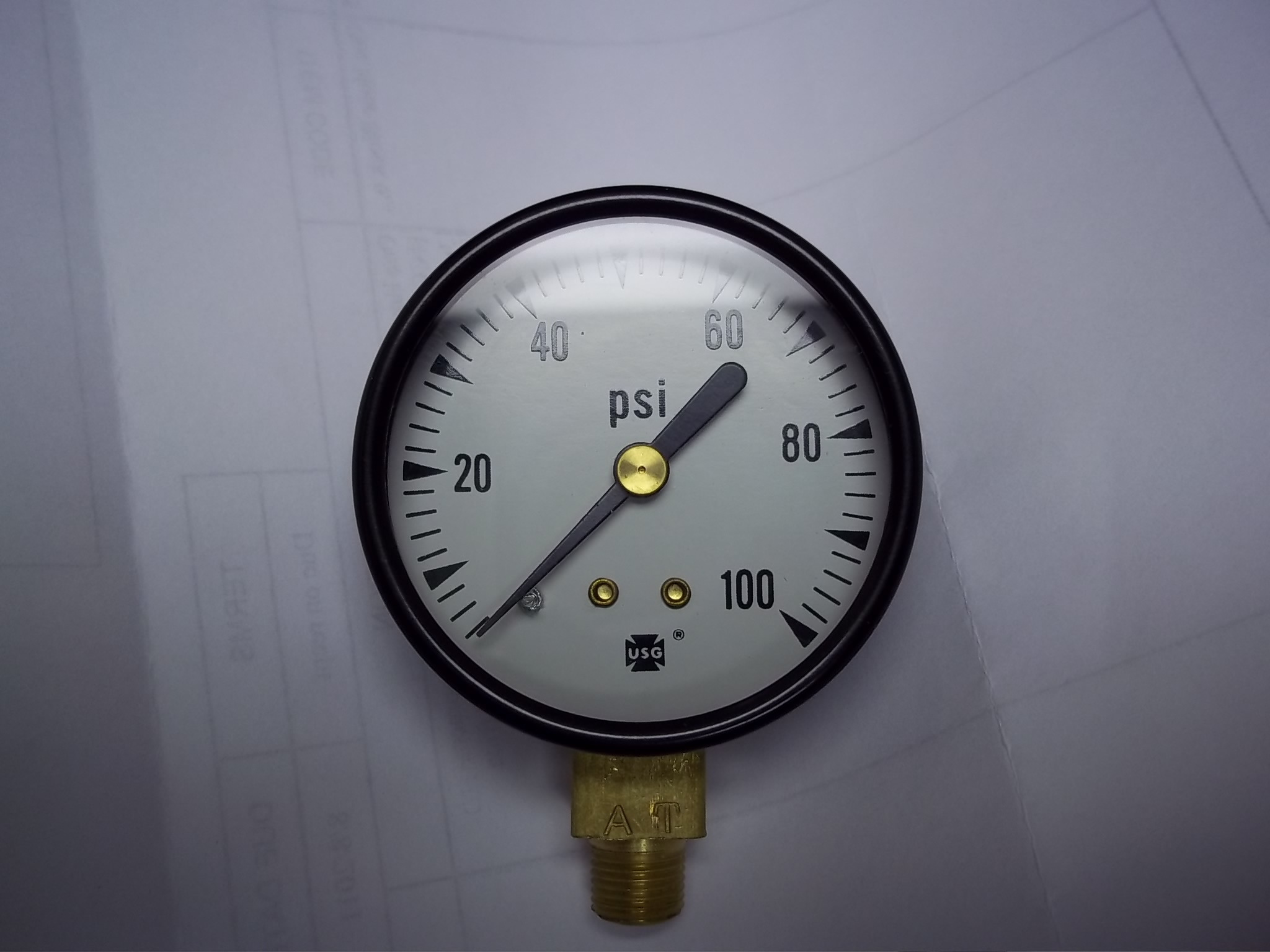 026149/T2 Pressure Gauge for Hoffman Steamers