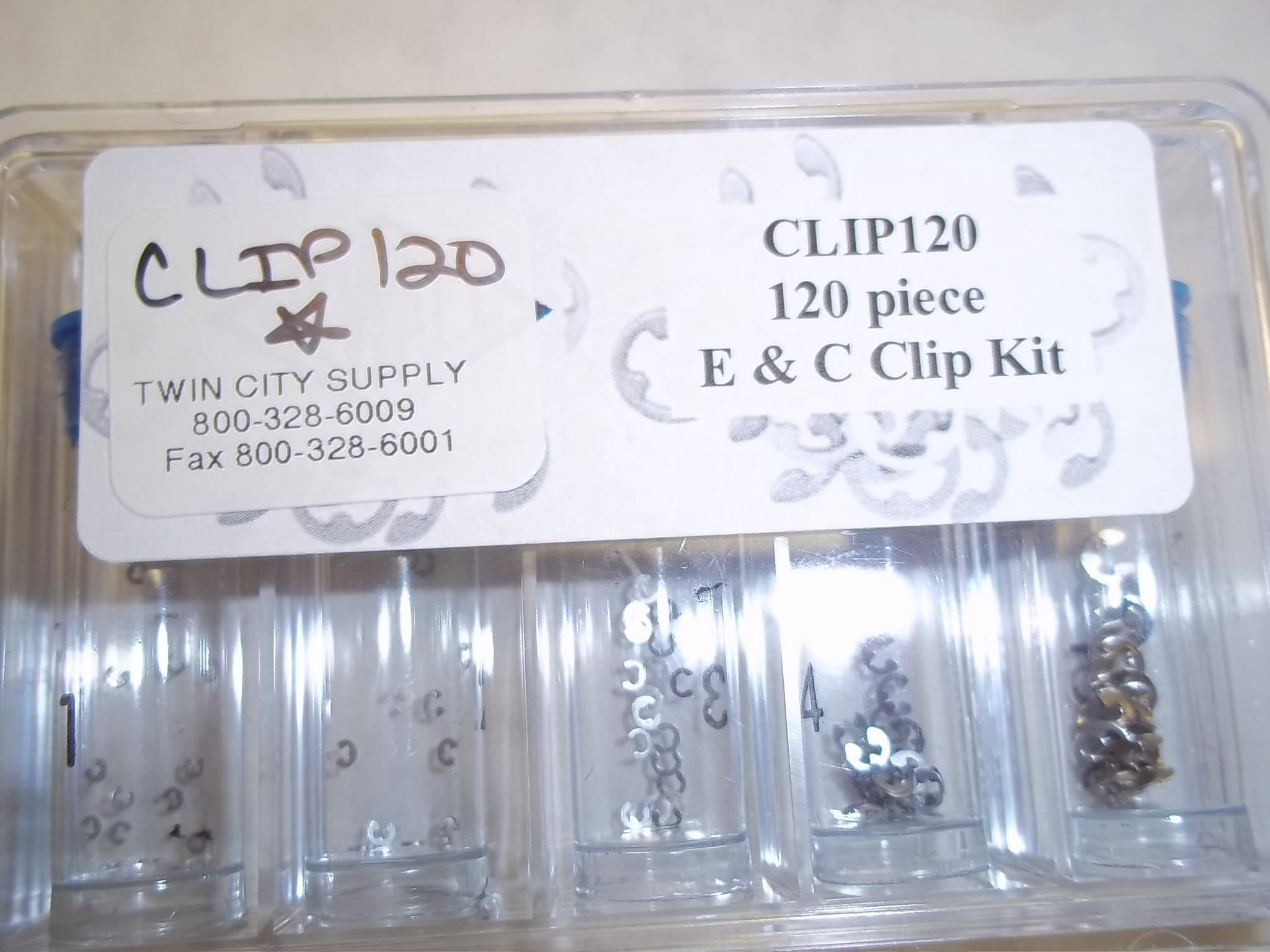 CLIP120 120 Piece Kit of E&C Clips for Push Buttons--Newall