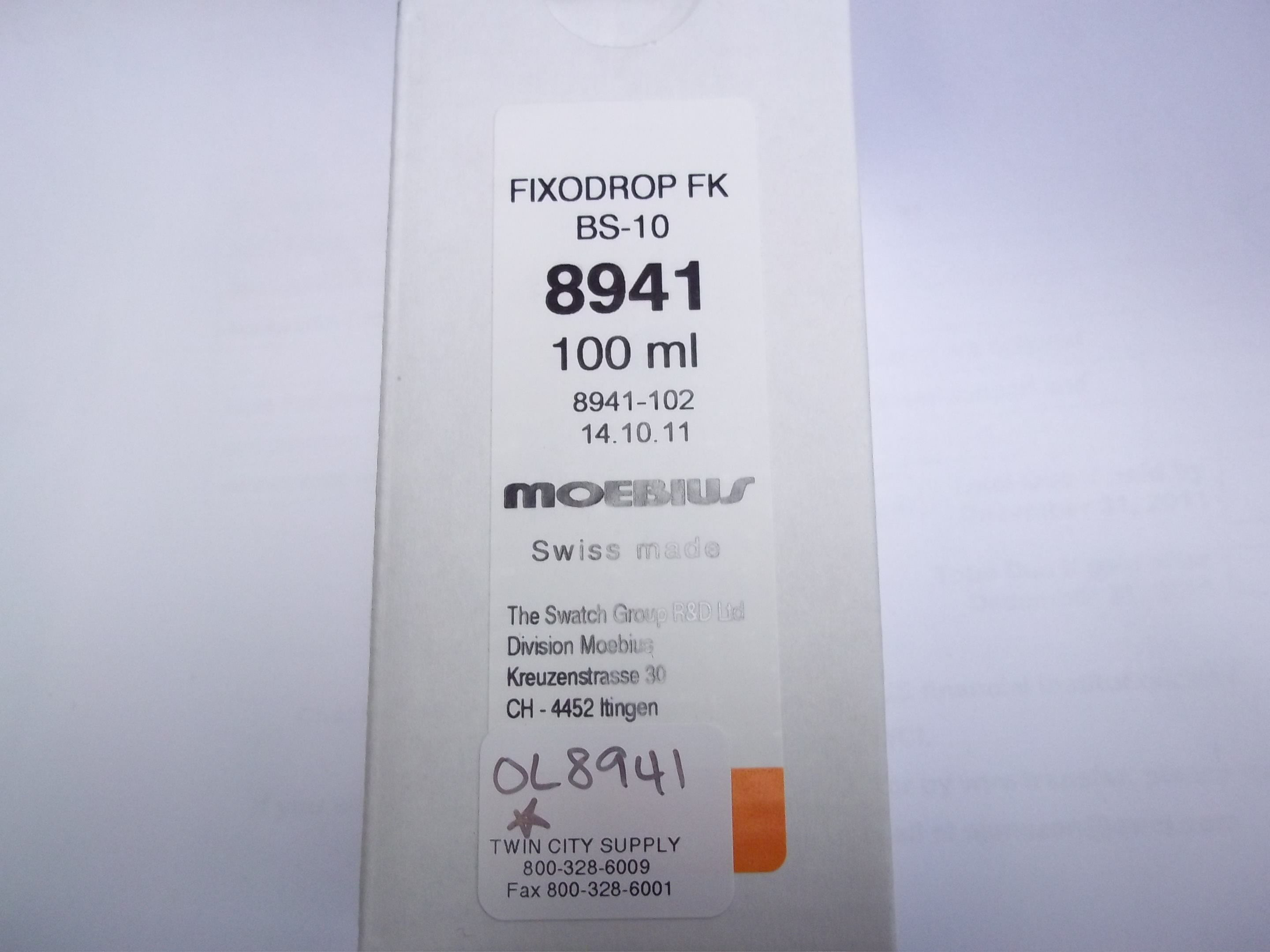 OL8941 FixoDrop FK BS-10 100ml bottle--by Moebius/special order only