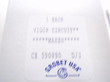 CE890 Vigor Circuit Maker- Grobet # CE59.0890