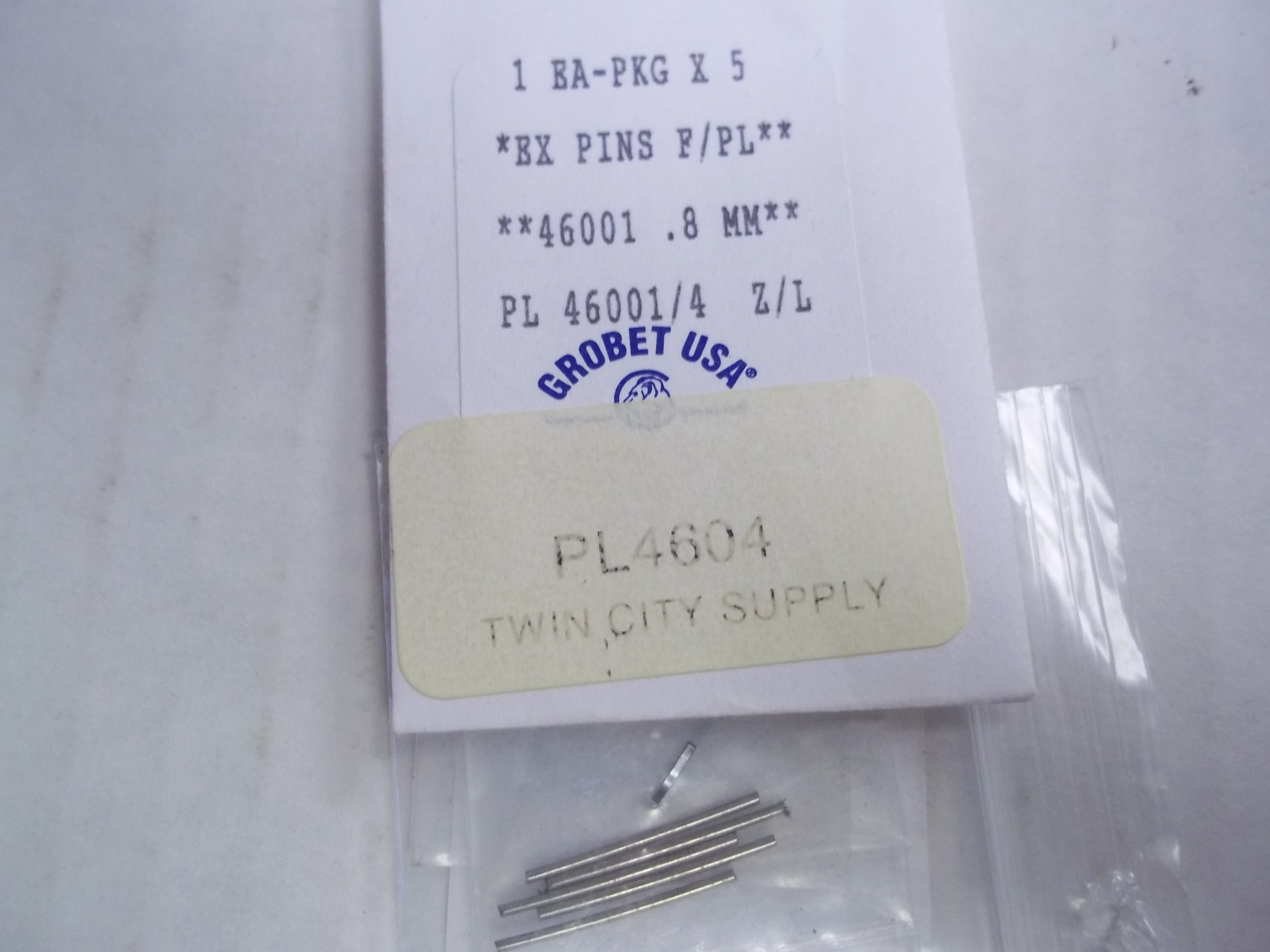 PL4604 Replacement Pins for the PL4605 Pin Punch--for the PL4600 Bracelet Sizing Pliers