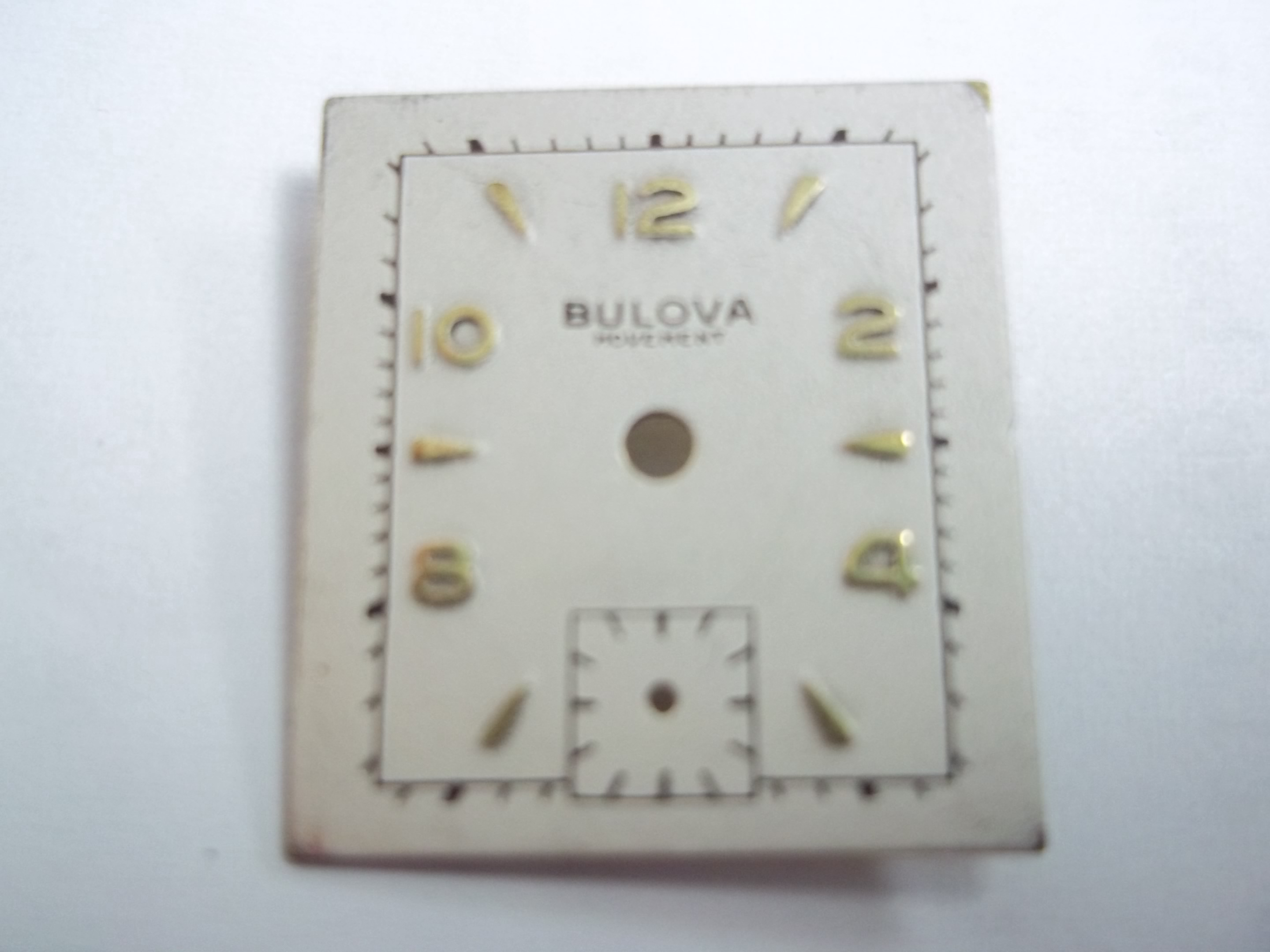 WD-B101 Bulova Watch Dial--as is