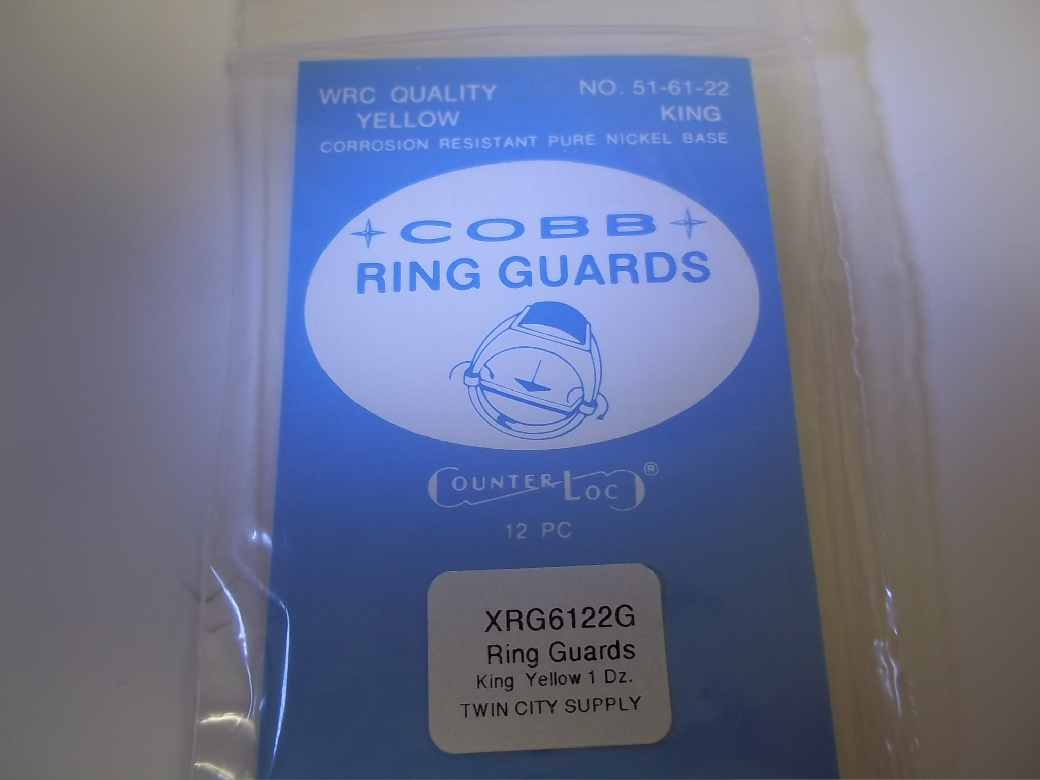 "RG6122G Cobb ""Counter Loc"" Ring Guards--King Yellow"