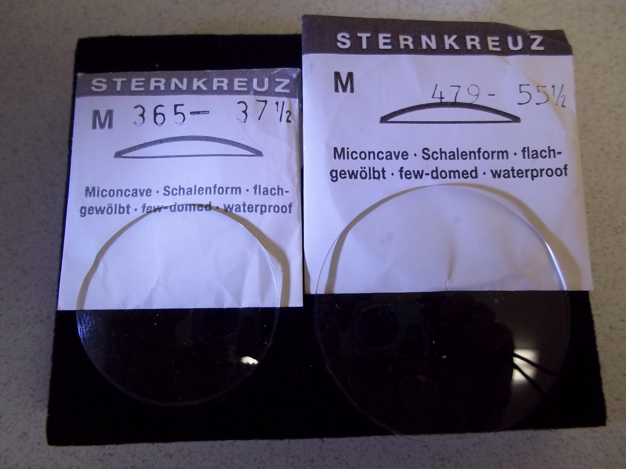 """M391-41 3/4 Sternkreuz Low Dome Plastic """"M"""" Miconcave Crystals"""