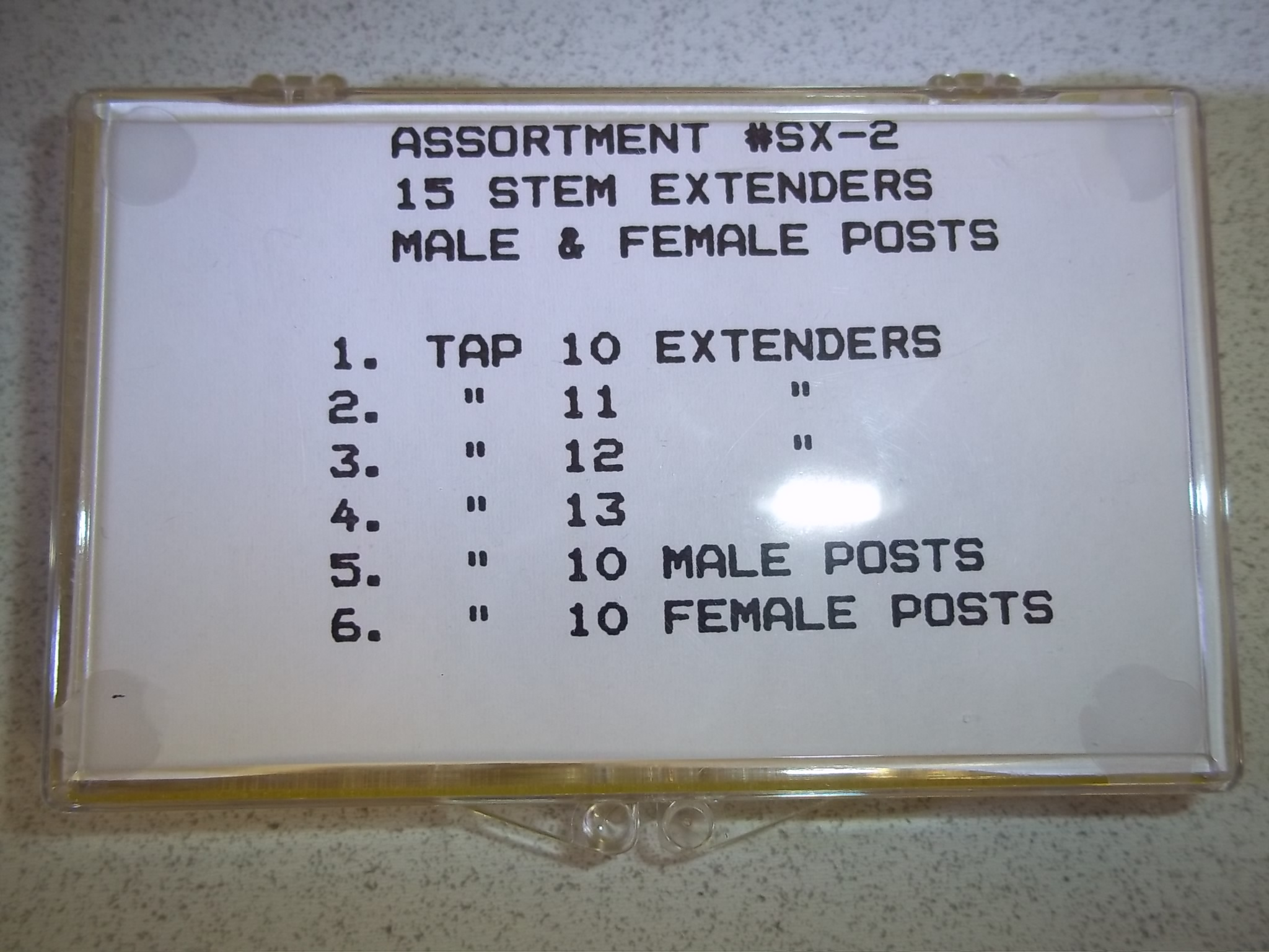 SE215 New! Assortment of 15 Stem Extenders- Acon
