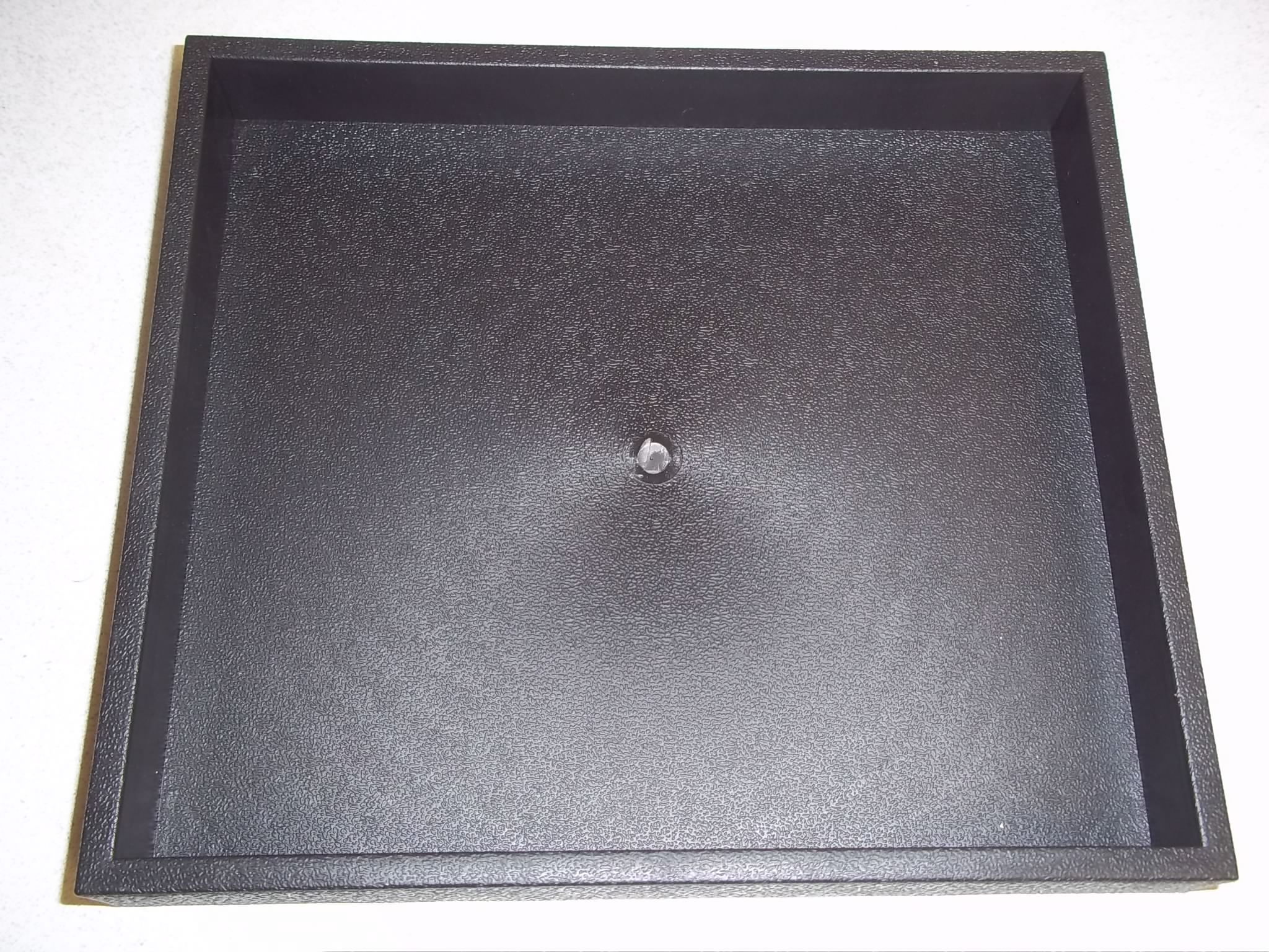 TR530 1/2 Size Black Plastic Display Tray