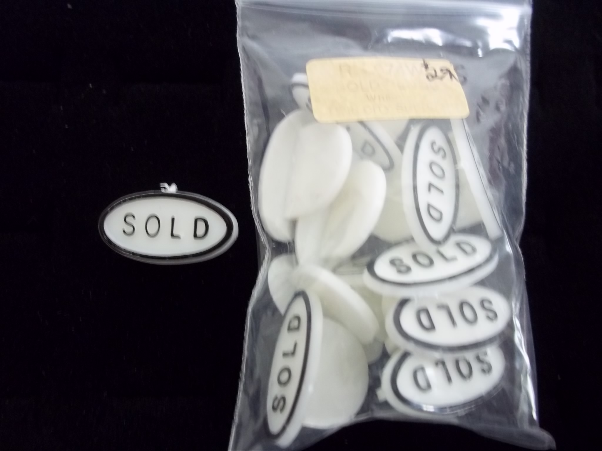 RN074W Sold Plugs -- white-- for use in ring displays-- pkg of 12