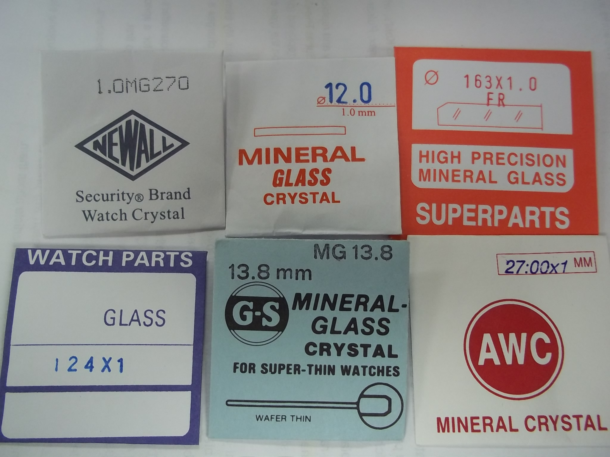RMG12.0 12.0mm Round Flat Mineral Glass Crystal 1.00mm thick