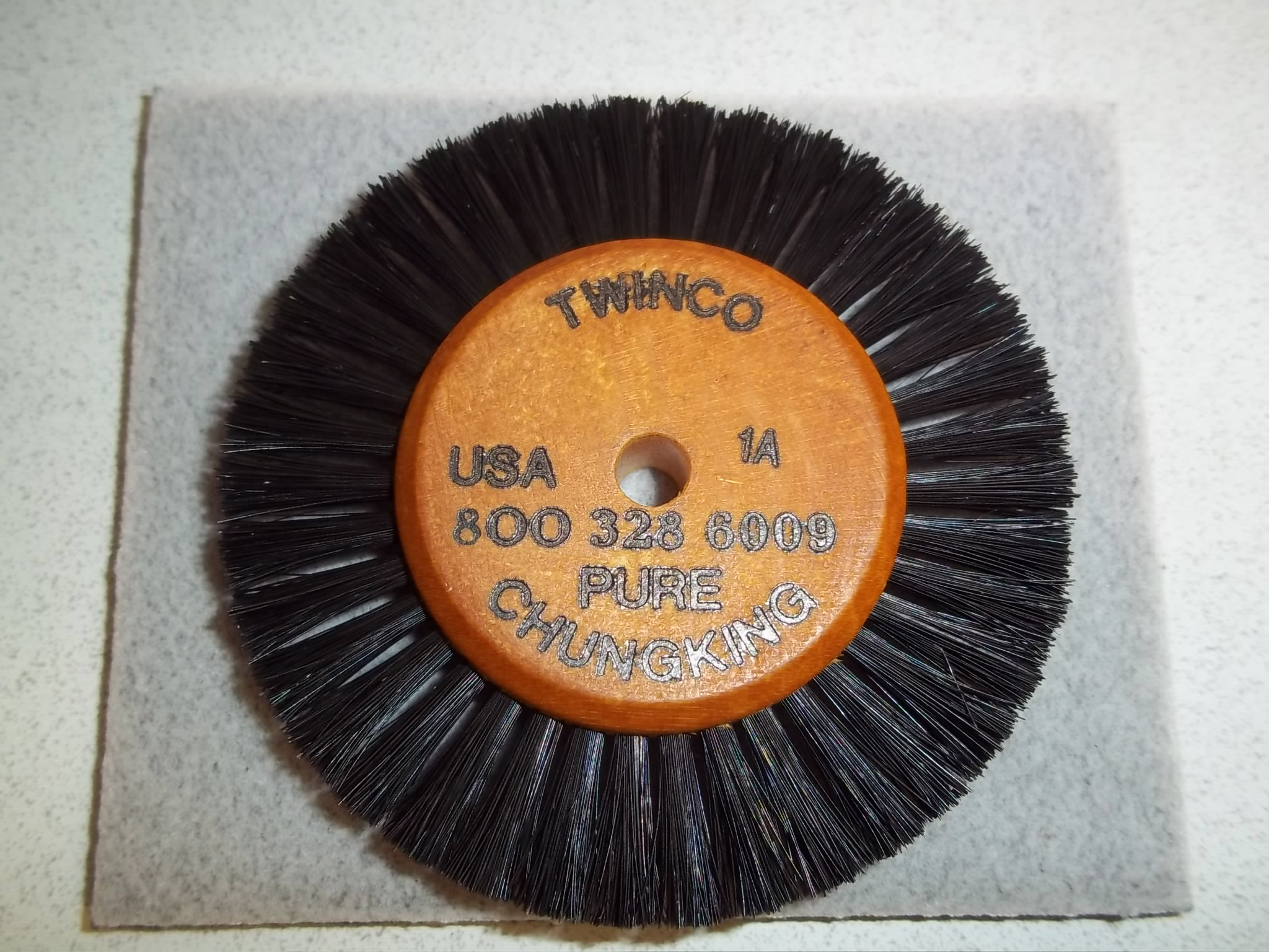 "BU529 Wood Hub Brush, 1 Row of Bristle, 3-1/8"" Overall Diameter Grobet# 16.398"