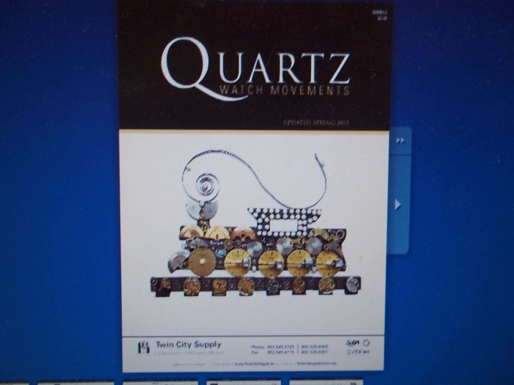 CAT-QWM2013 Quartz Watch Movement Catalog-Updated 2013 Version