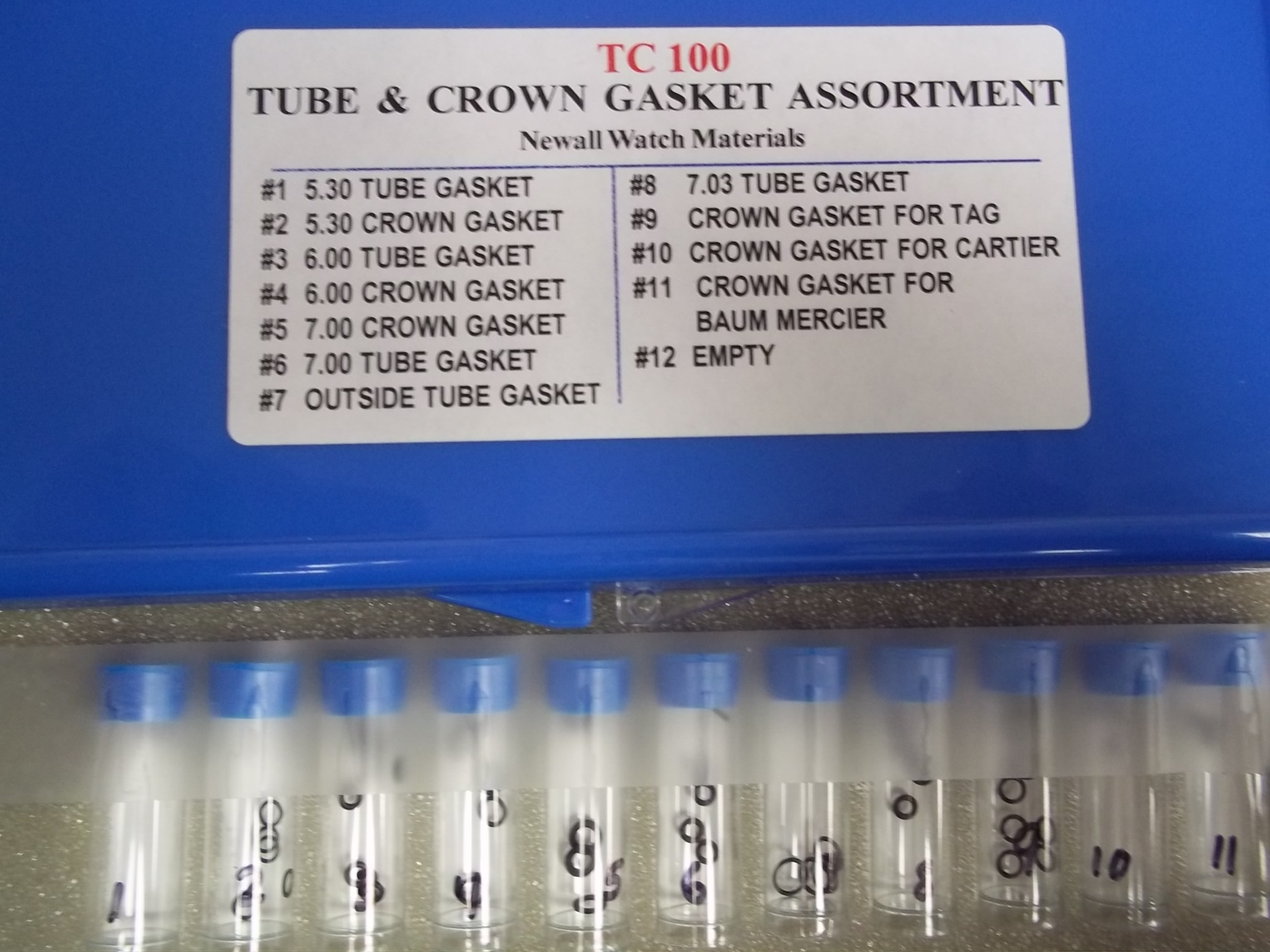 TC100 Tube & Crown Gasket Assortment--65 pieces- Newall