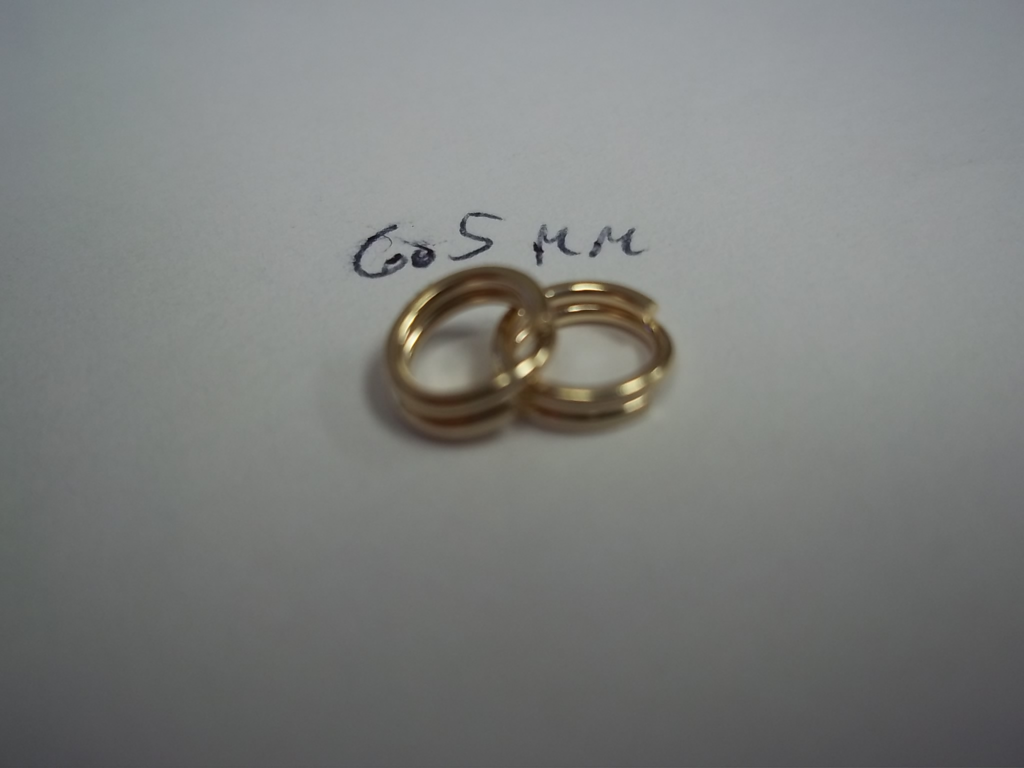 XSP015K-1 14K Yellow Split Rings- 6.5mm each price