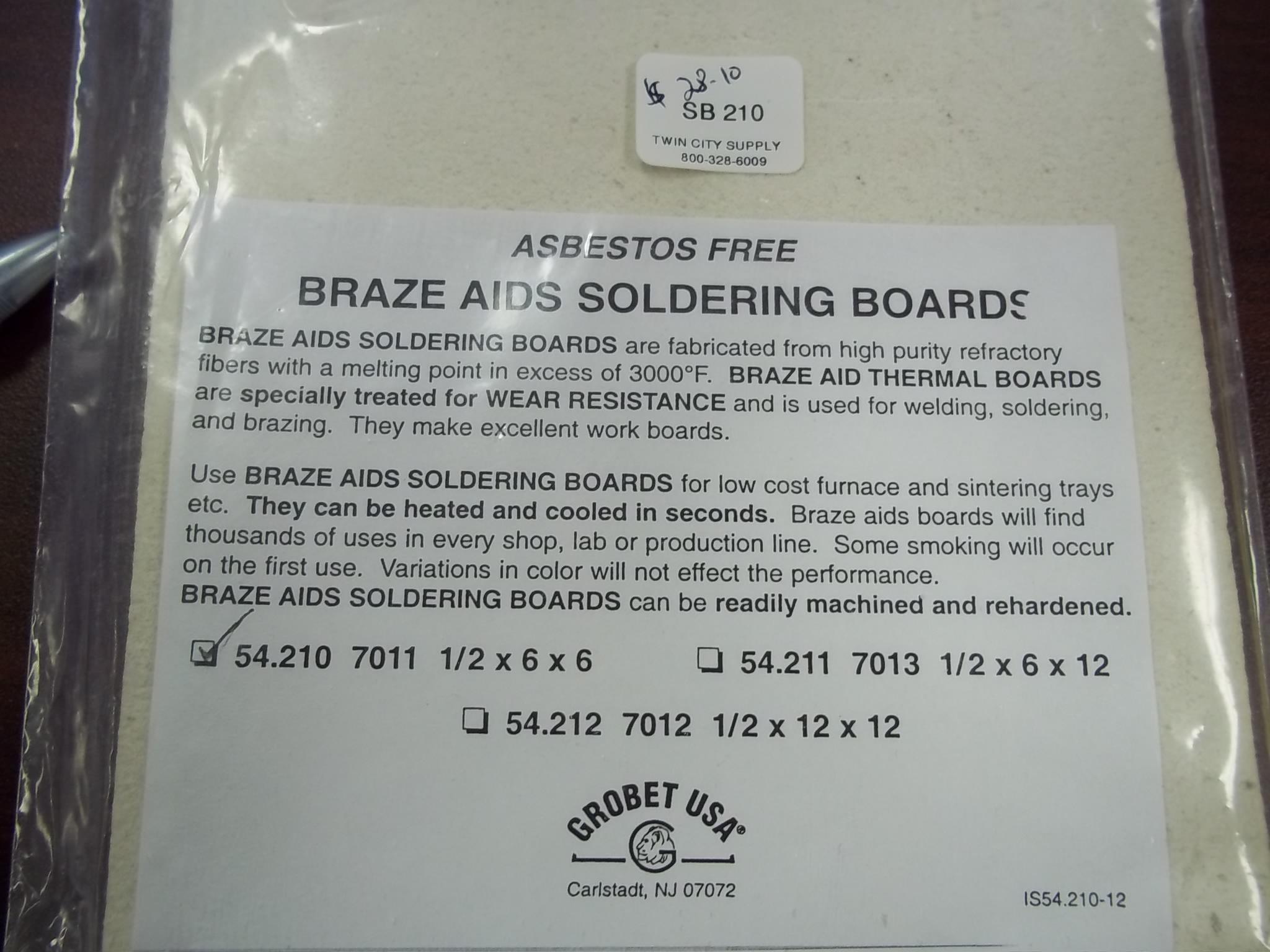 SB210 Asbestos Free Braze Aids Soldering Boards-also great for platinum! Grobet